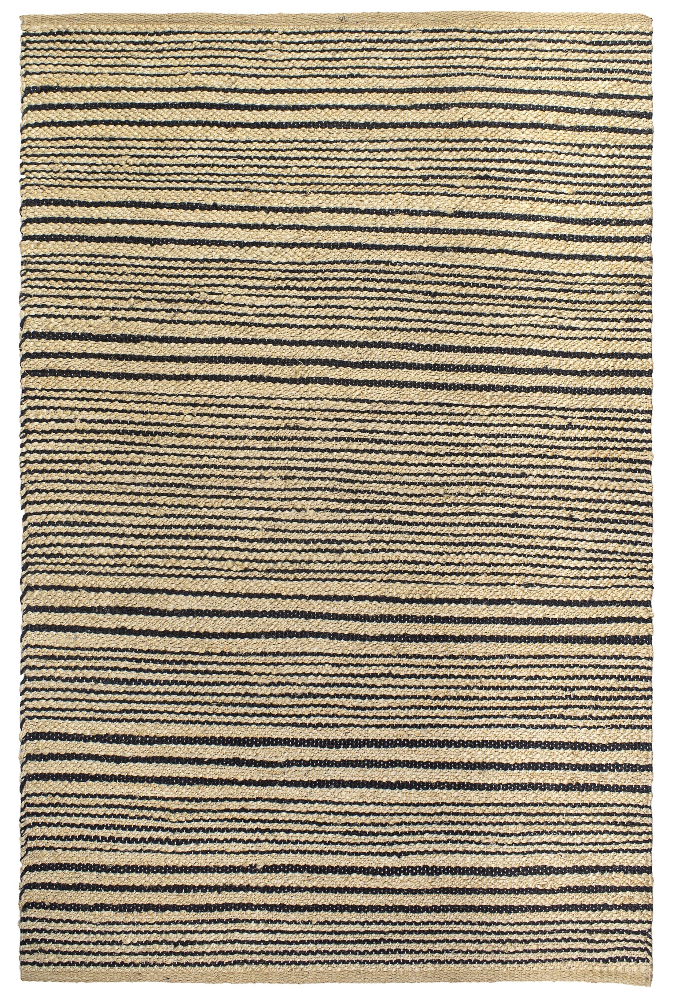 Delmer Congaree Hand-Woven Black Area Rug Rug Size: 5' x 8'
