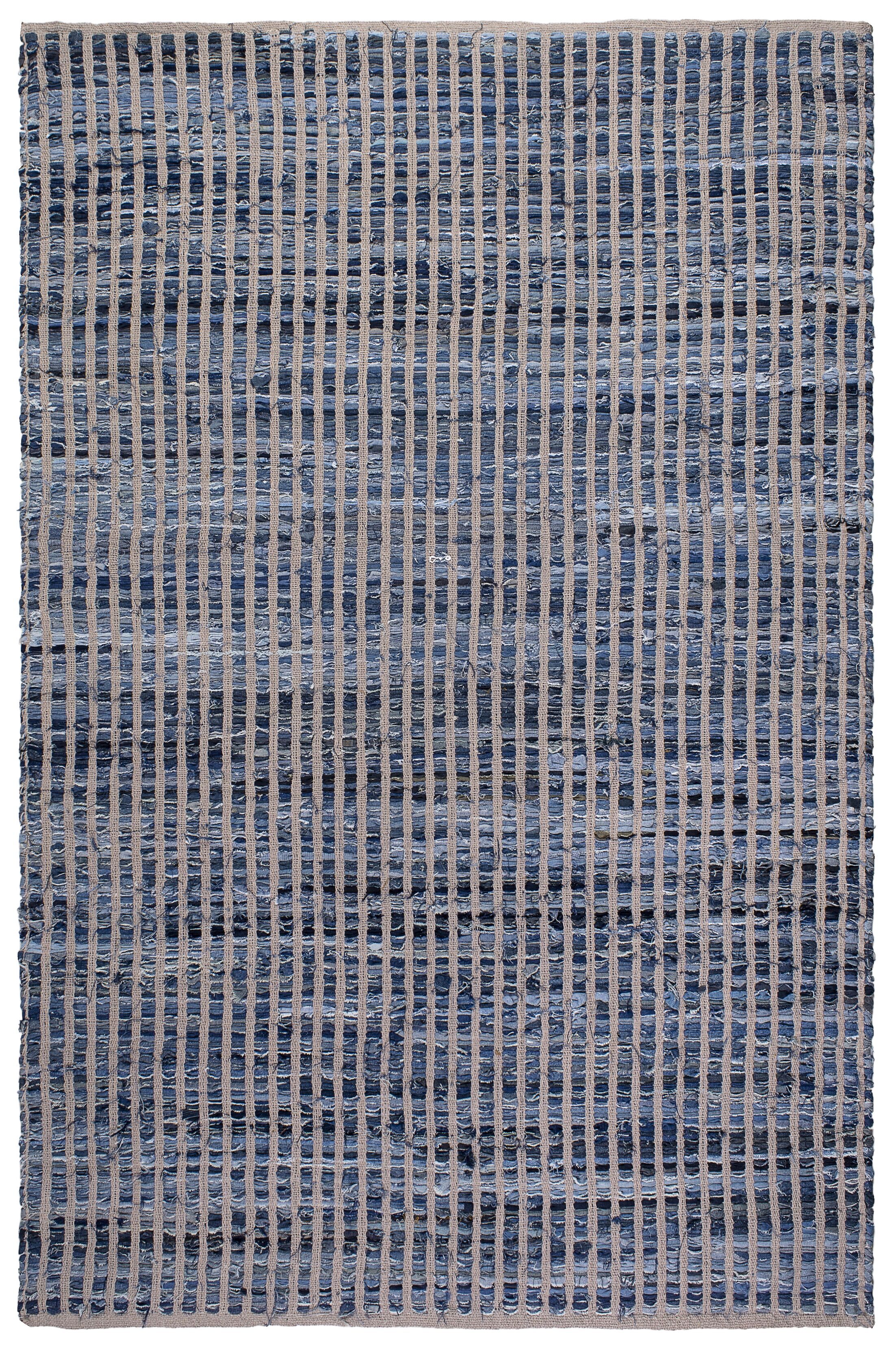Zen Vienna Hand-Woven Blue/Gray Area Rug Rug Size: 8' x 10'