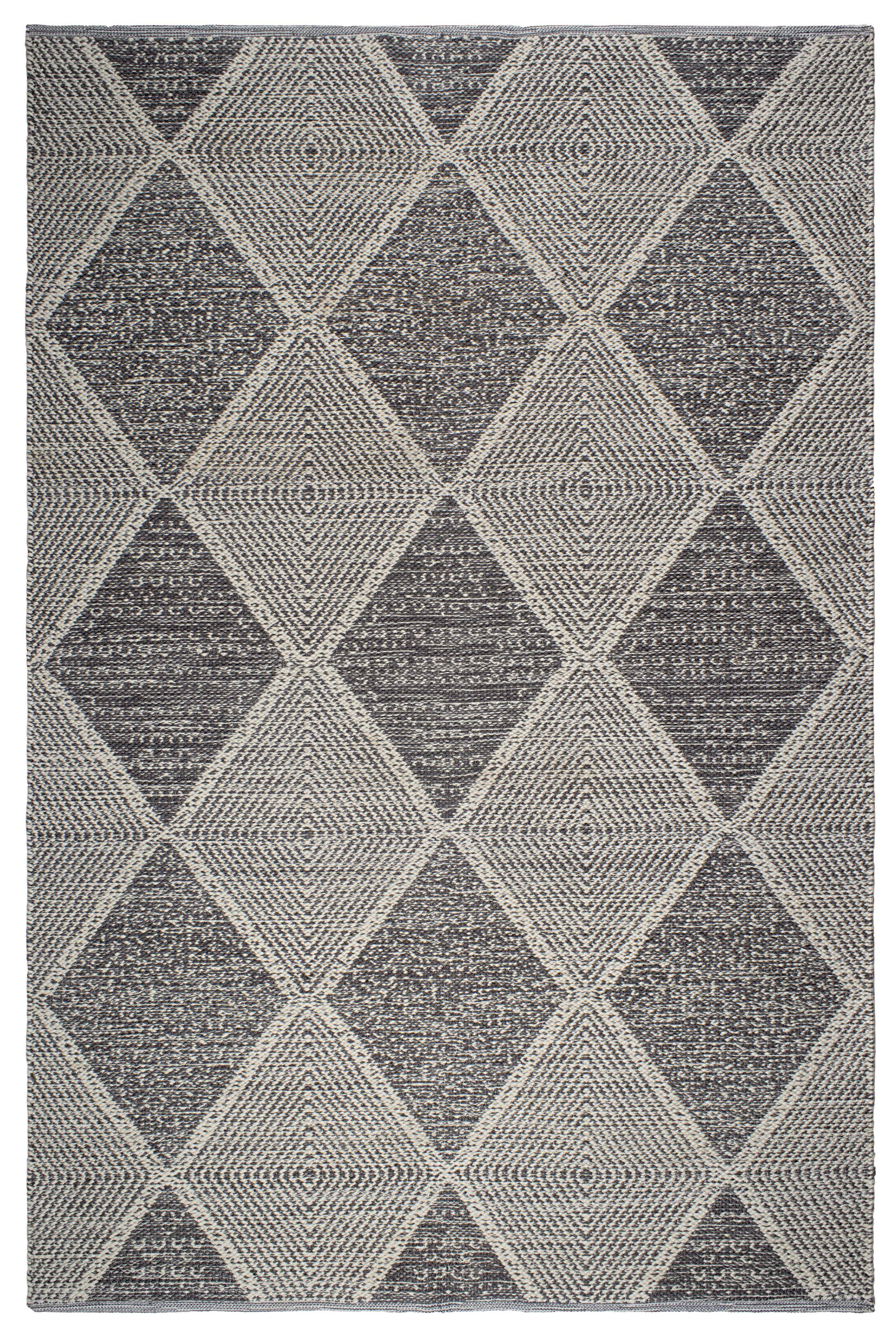 Cowger Hampton Hand-Woven Gray Indoor/Outdoor Area Rug Rug Size: 4' x 6'