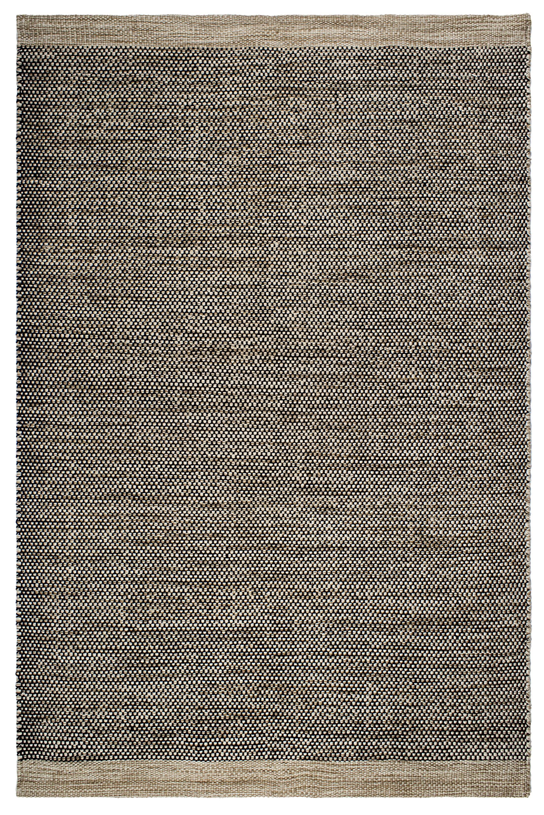 Markowski Hand-Woven Black/Beige Indoor/Outdoor Area Rug Rug Size: 8' x 10'