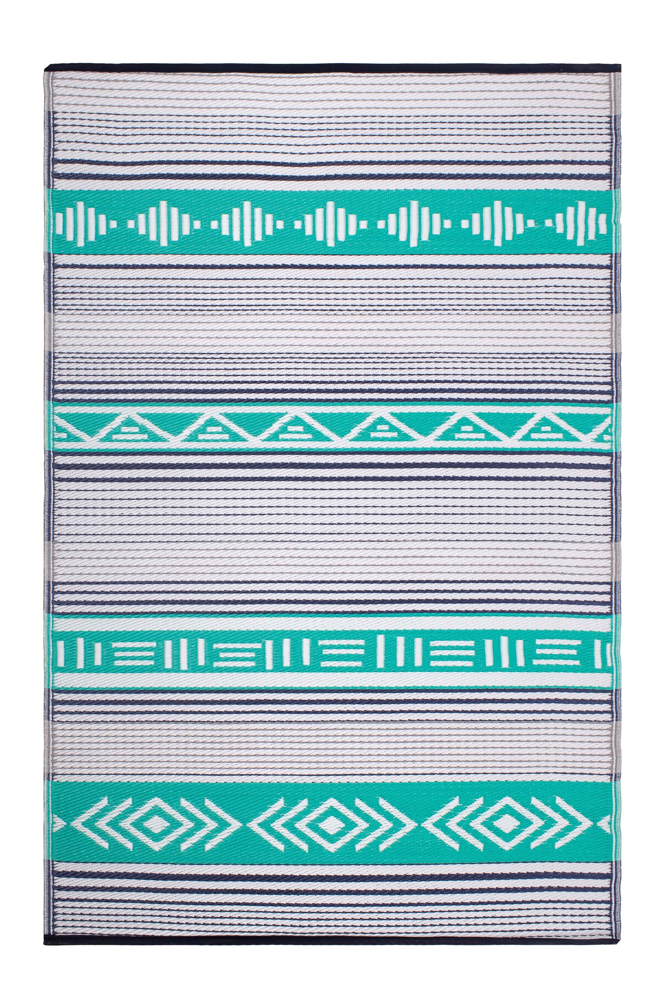 Swanson Green Indoor/Outdoor Area Rug Rug Size: Rectangle 5' x 8'