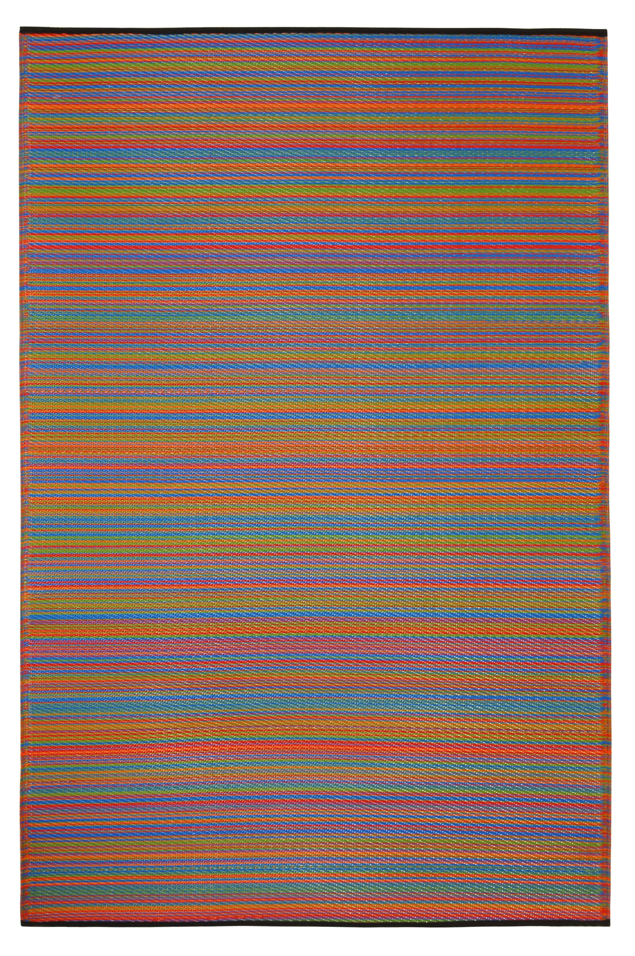 Raub Hand Woven Yellow/Red Indoor/Outdoor Area Rug Rug Size: Round 8'