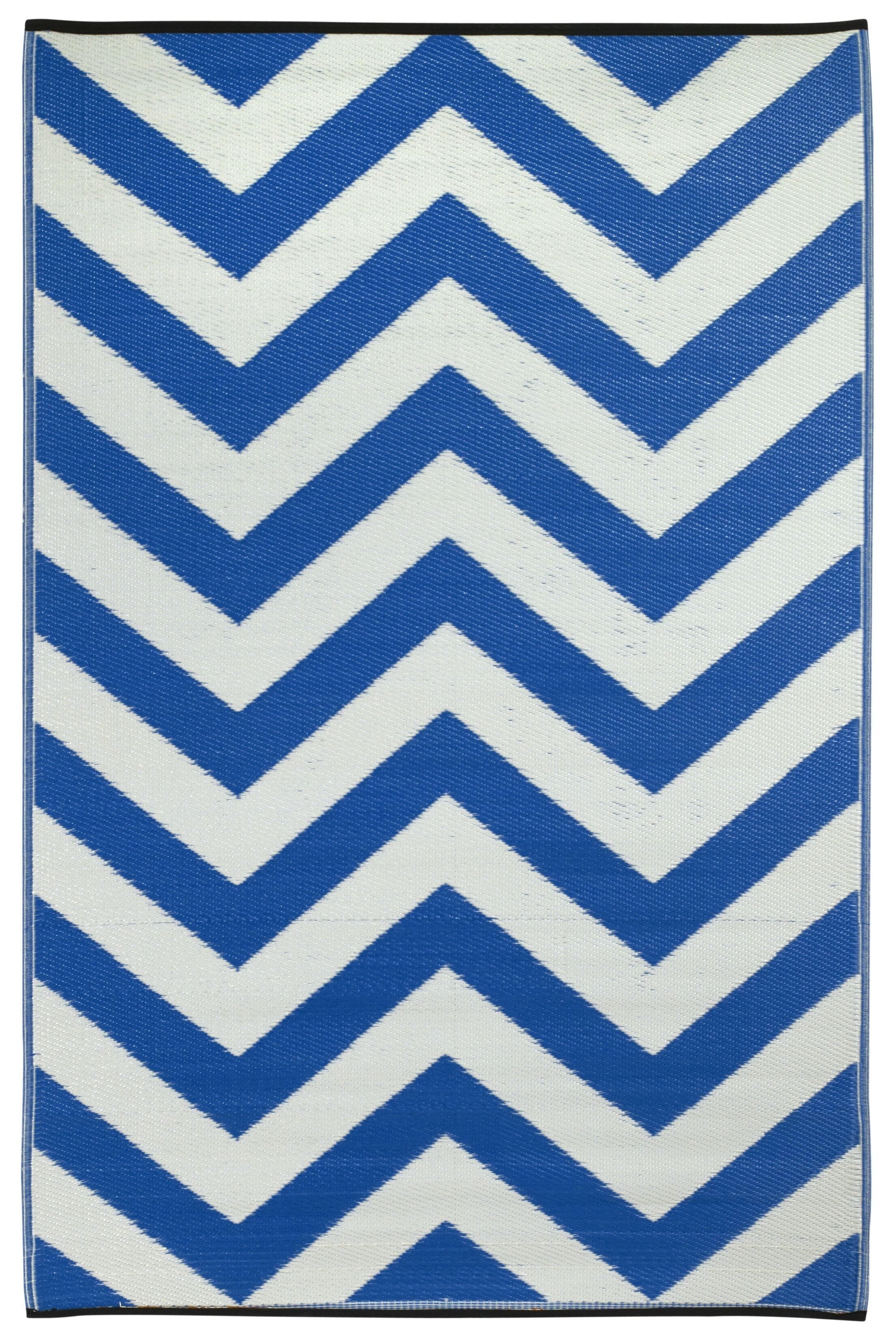 Laguna Hand Woven Blue/White Indoor/Outdoor Area Rug Rug Size: 6' x 9'