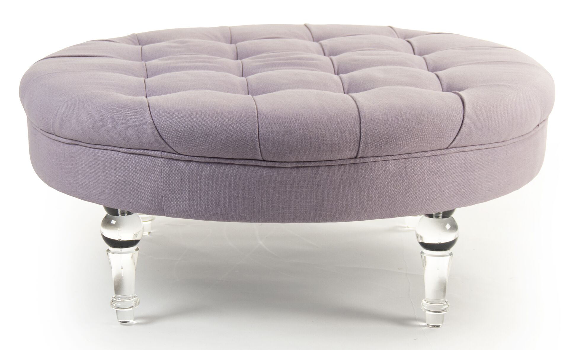 Adalene Cocktail Ottoman Upholstery: Lilac