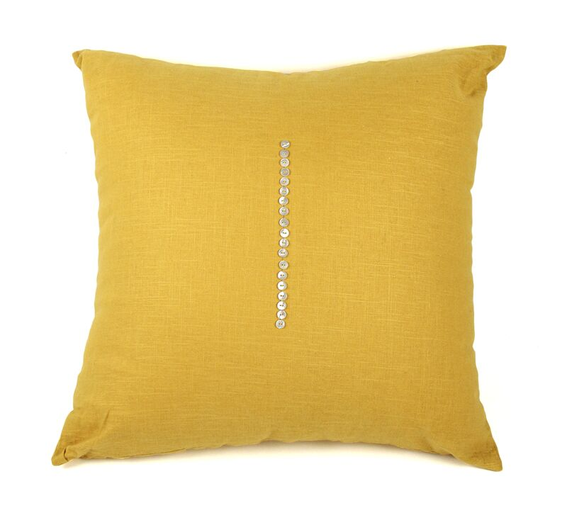 Linen Throw Pillow Color: Canary Yellow, Size: 24