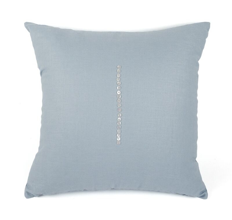 Linen Throw Pillow Color: Sky Blue, Size: 24
