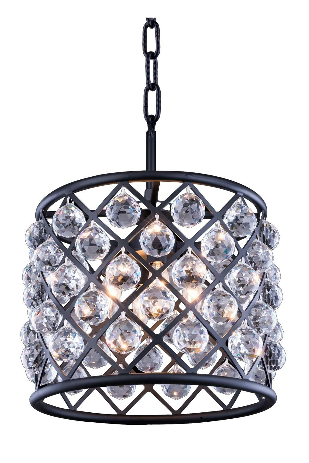 Morion 4-Light Pendant Crystal: Crystal (Clear), Finish: Polished Nickel