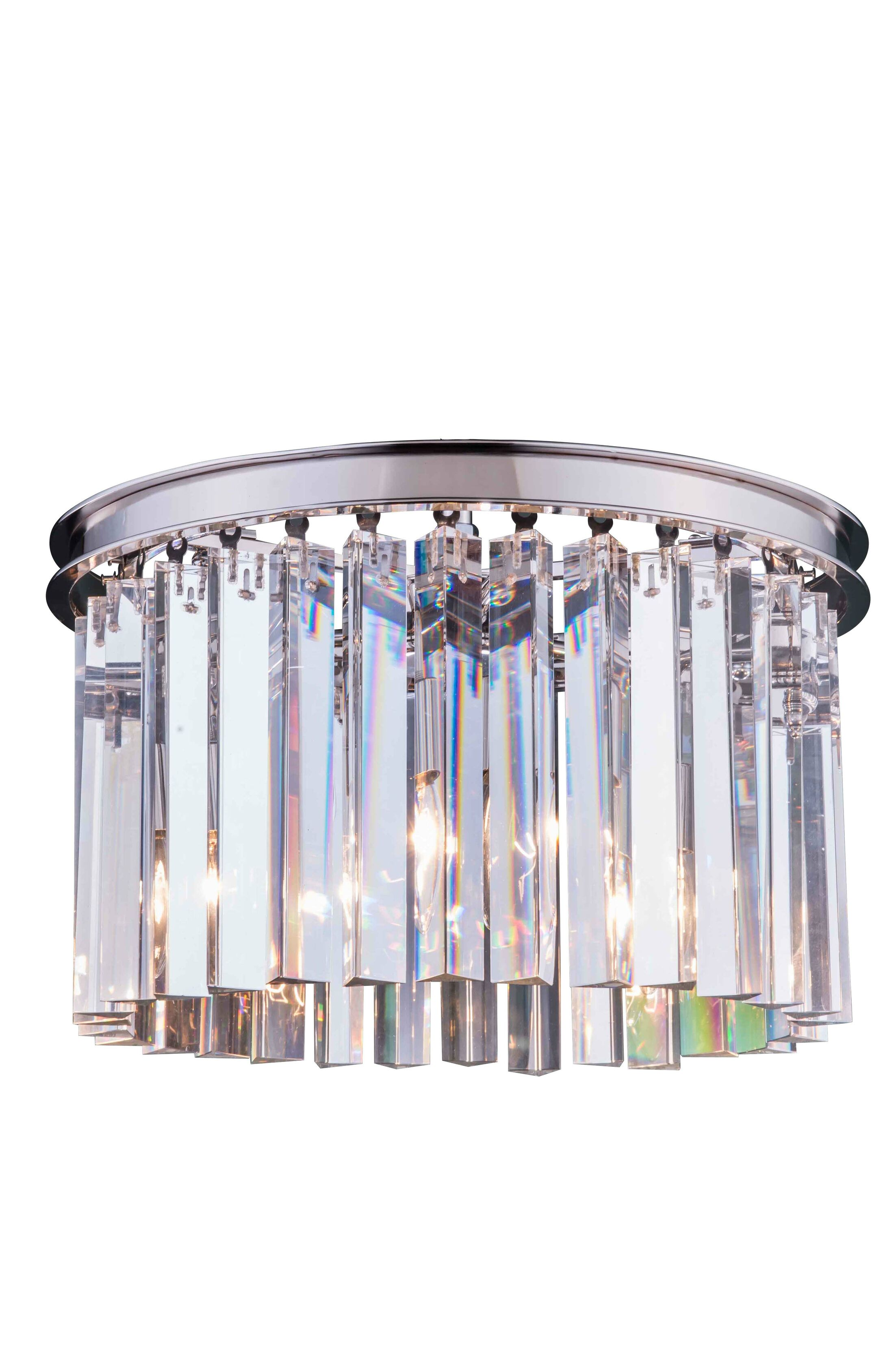 Lavinia 3-Light Flush Mount Crystal Color: Crystal (Clear), Finish: Polished Nickel, Size: 10.5