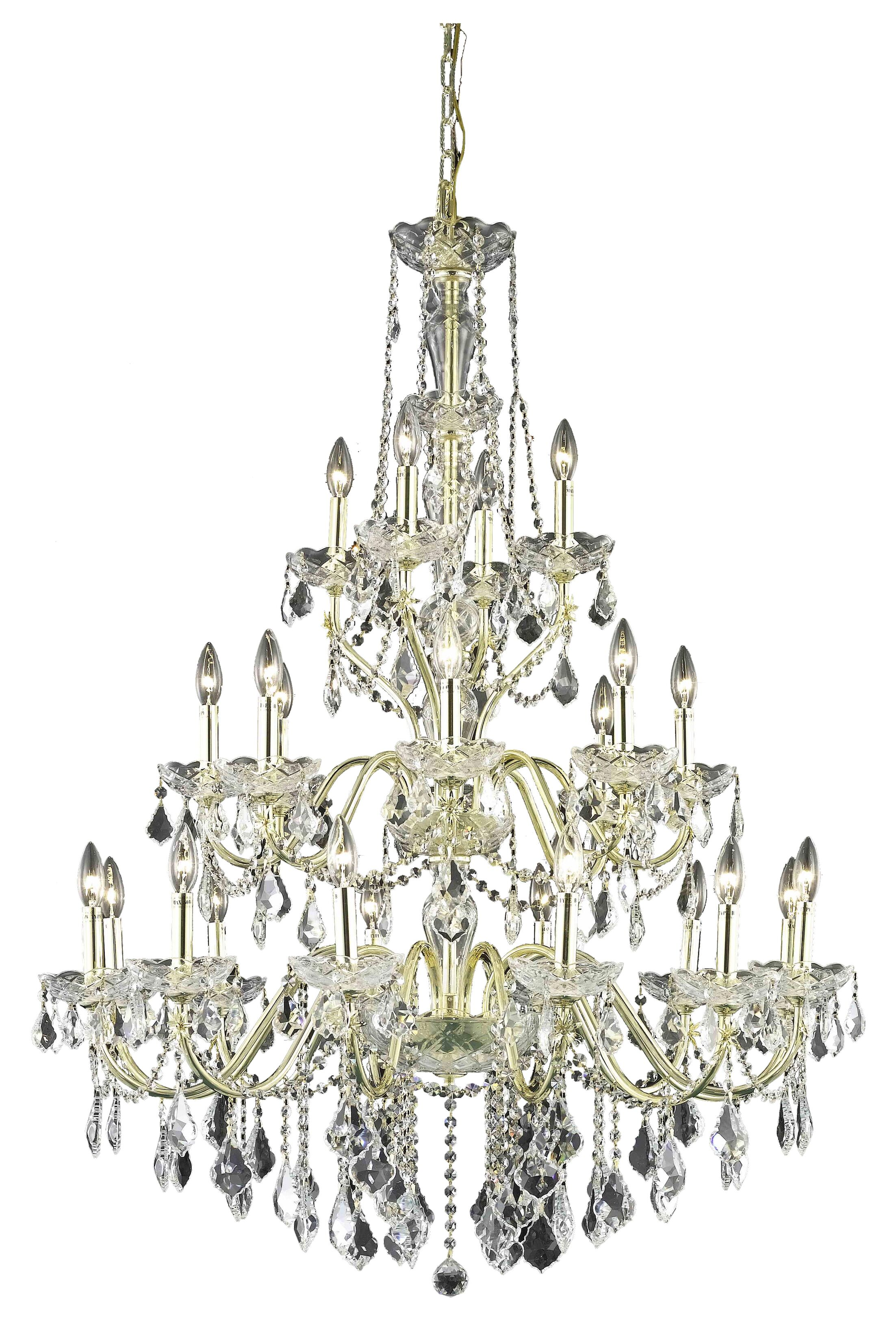 Thao 24-Light Crystal Chandelier Finish: Gold
