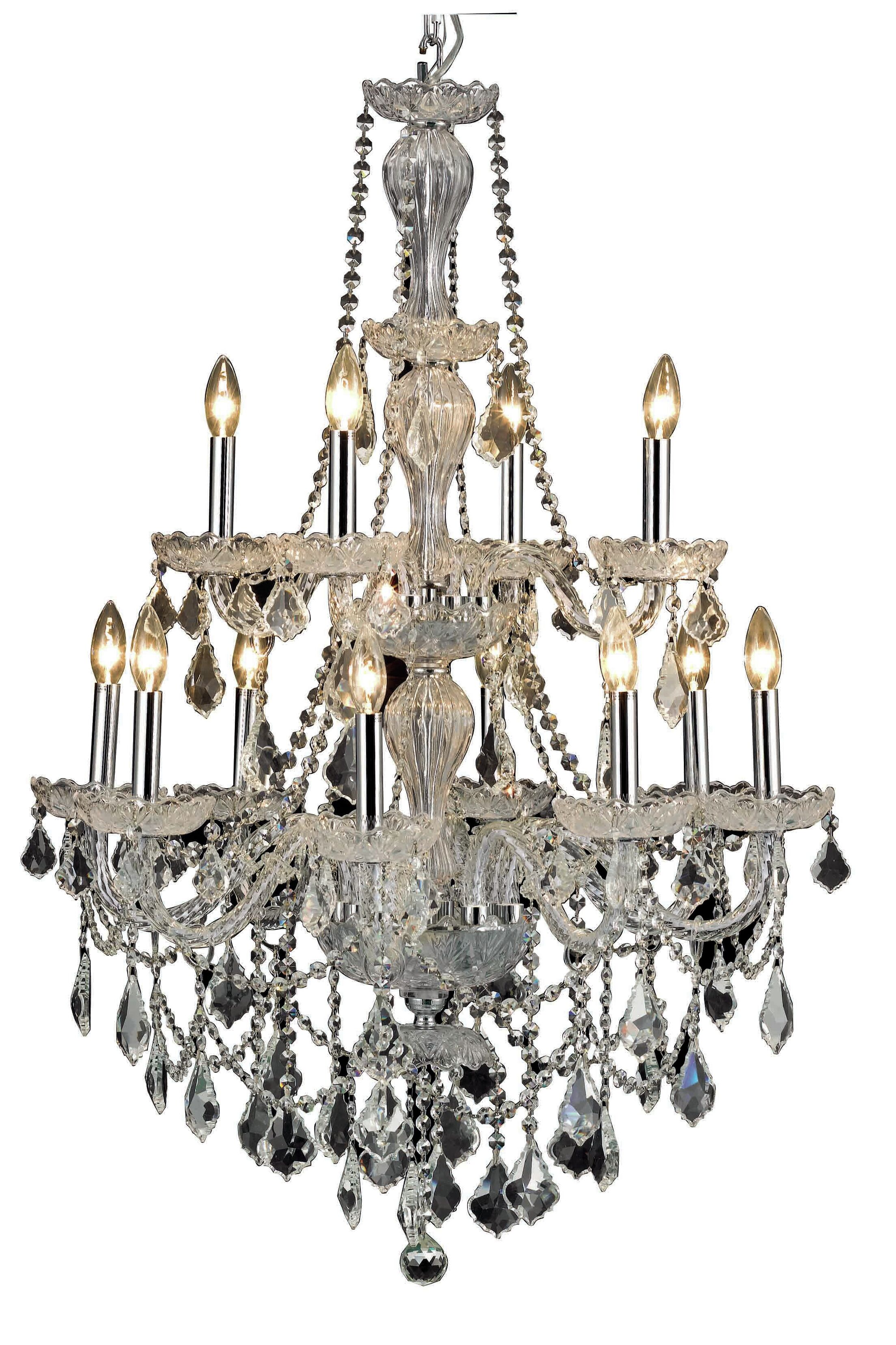 Lesli 12-Light Candle Style Chandelier Finish: Chrome