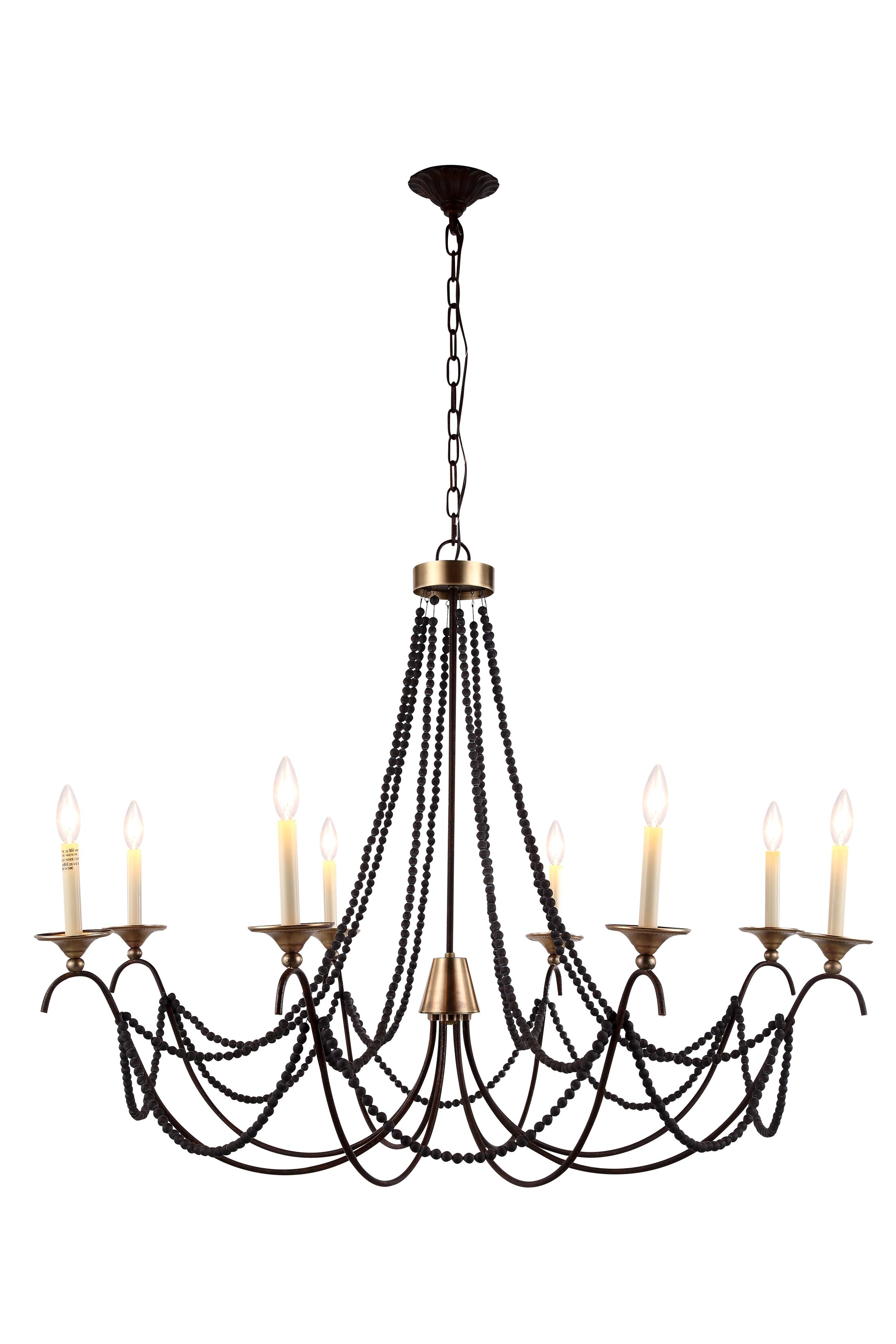 Georgia 6 Light Cangle-Style Chandelier Size: 8 Light