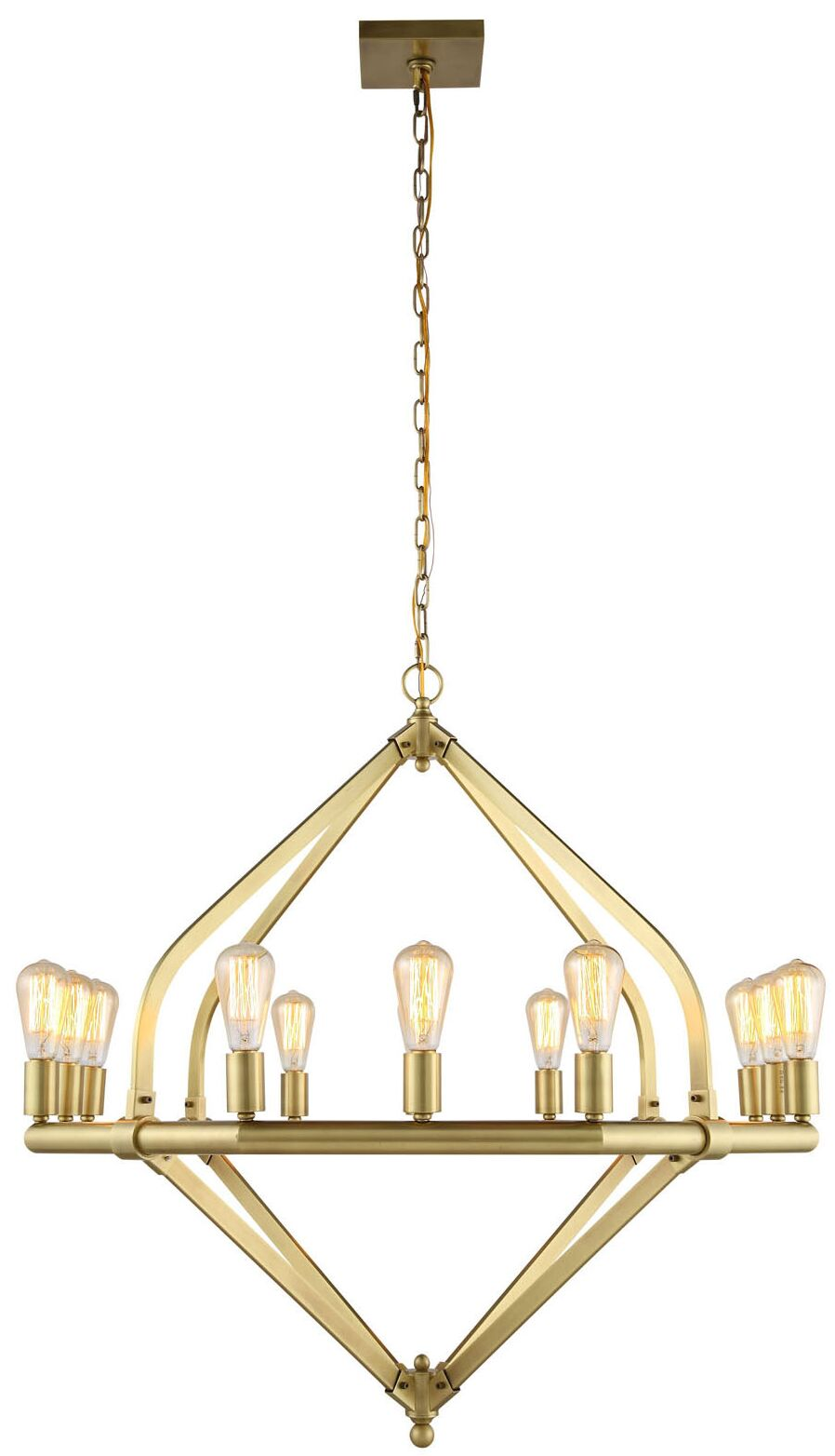 Stansfield 12-Light Chandelier Finish: Polished Nickel