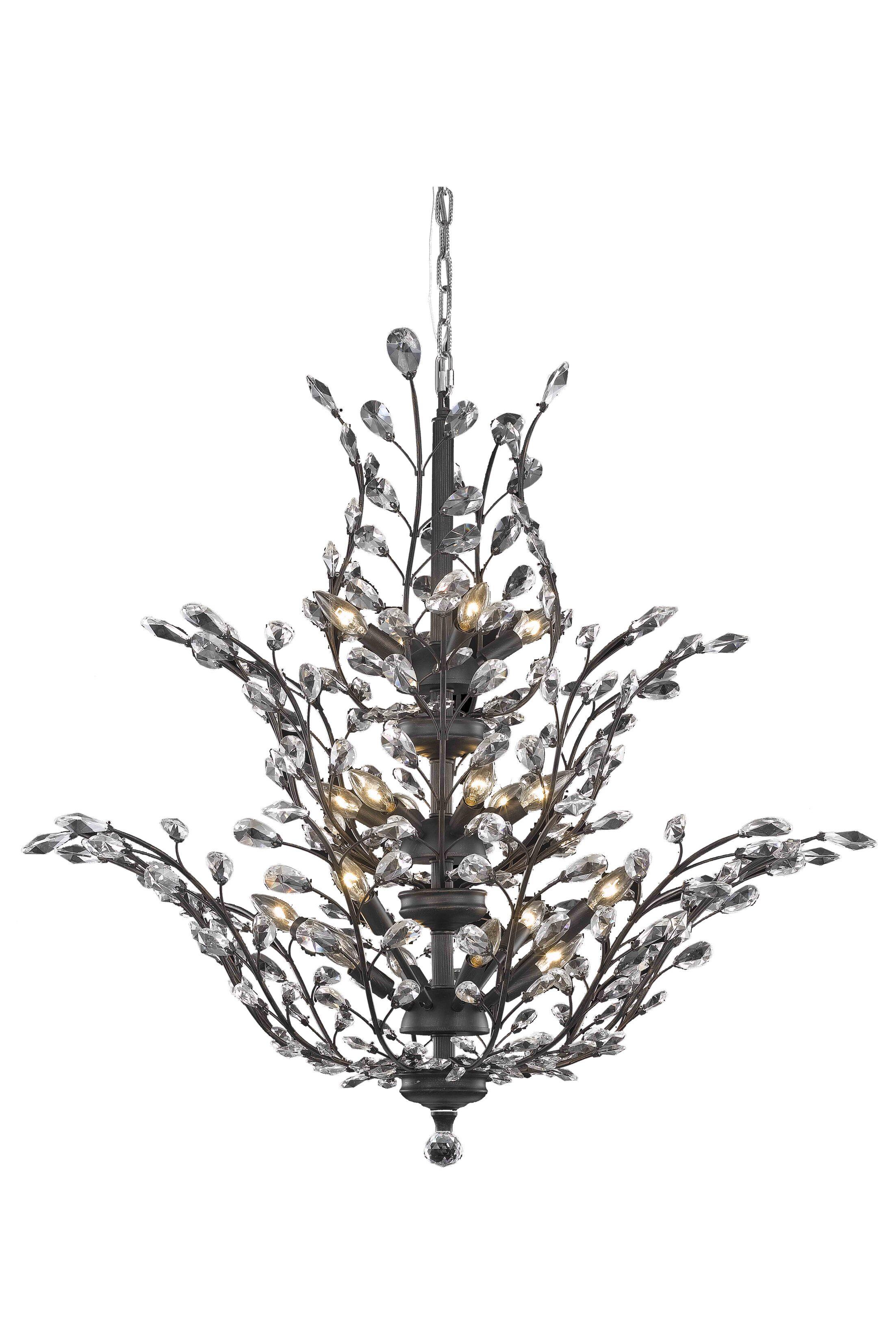 Lamons 18-Light Candle Style Chandelier Crystal Grade: Elegant-Cut