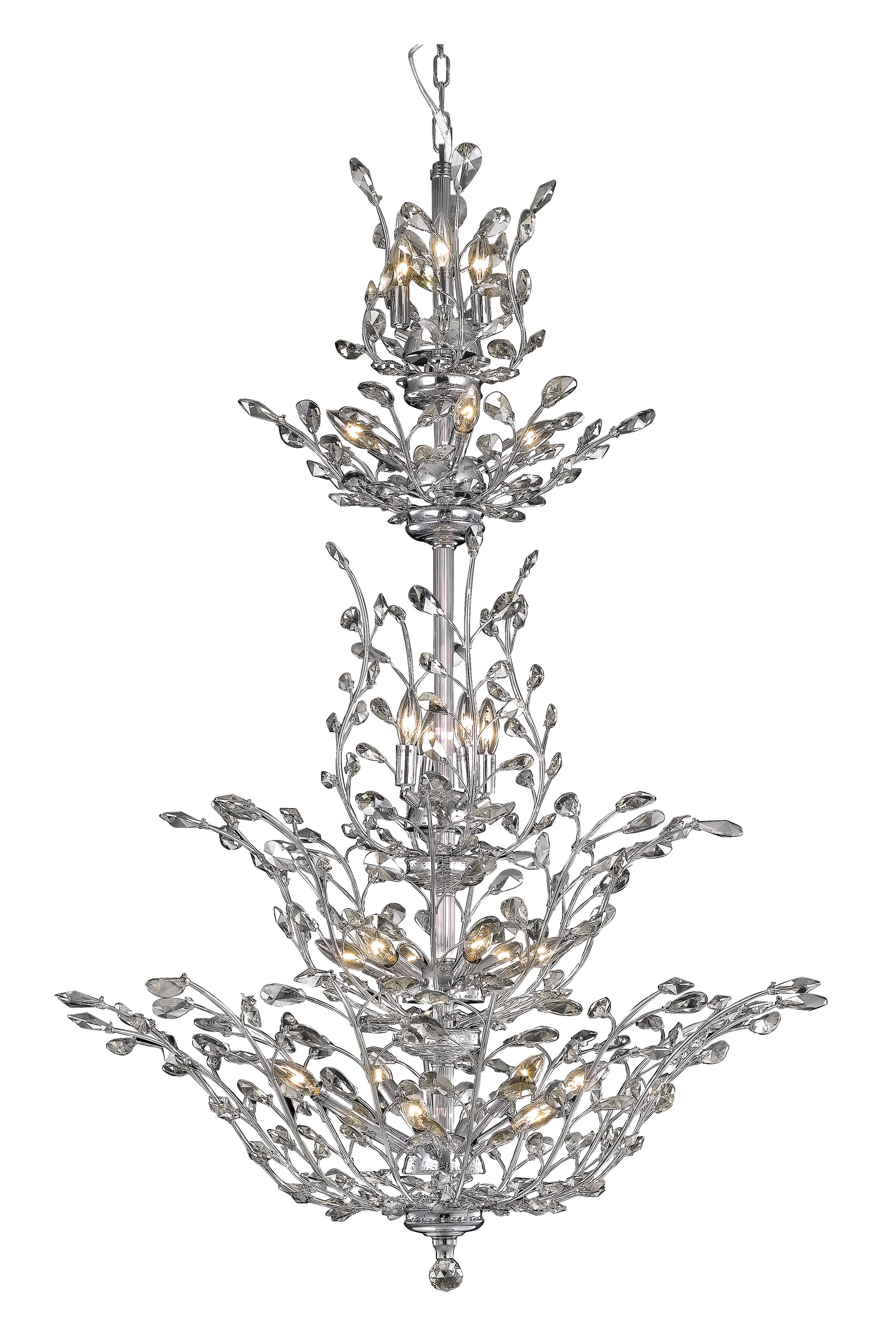 Lamons 25-Light Candle Style Chandelier Finish: Chrome, Crystal Grade: Swarovski Spectra