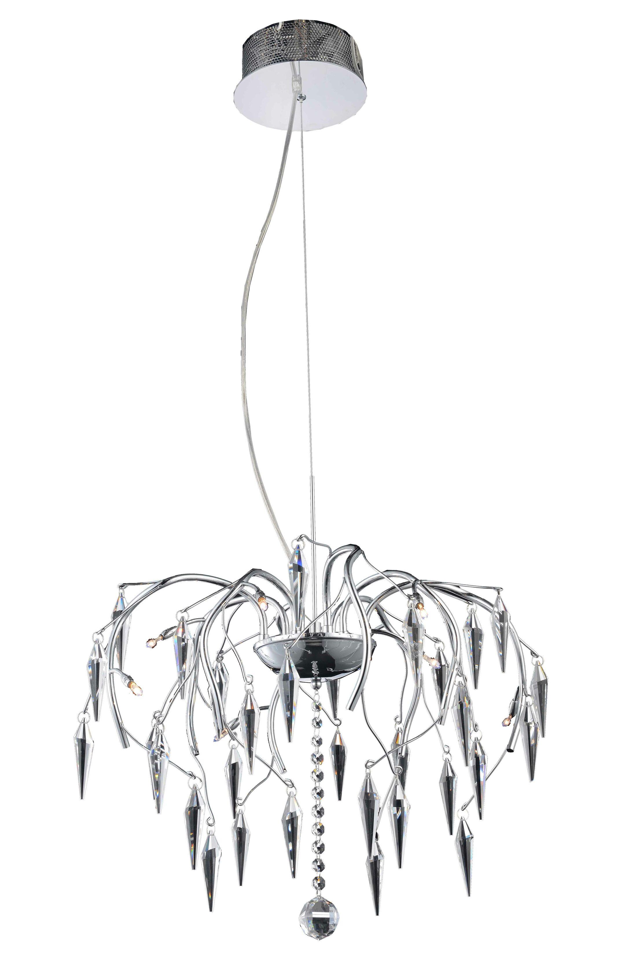America 8-Light Crystal Chandelier Crystal Grade: Swarovski Strass