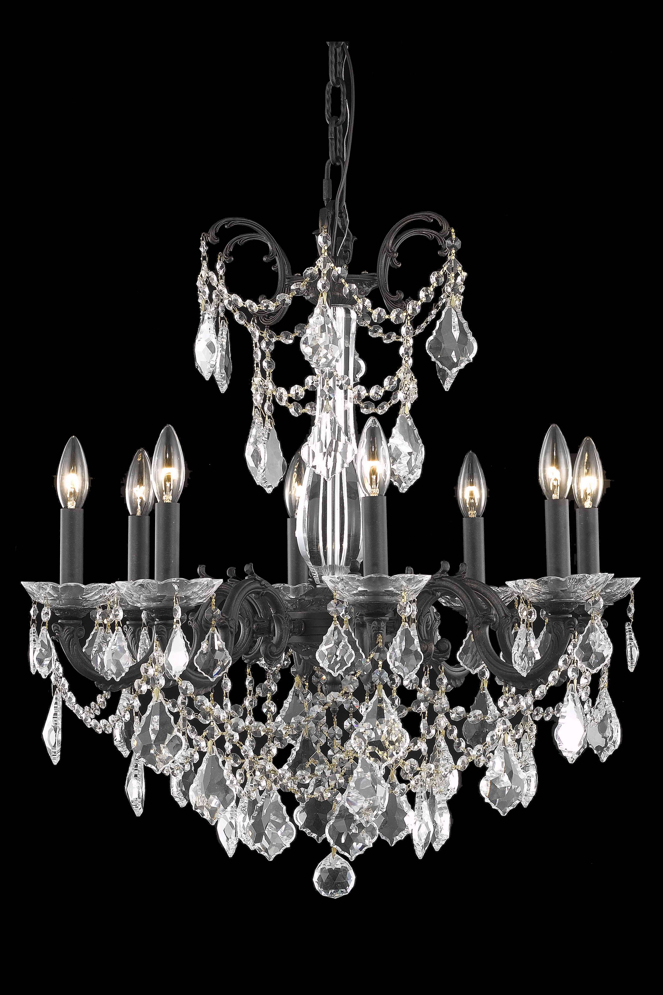 Cherie 8-Light Candle Style Chandelier Crystal Grade: Spectra Swarovski, Finish: French Gold
