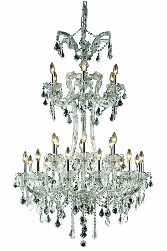 Regina Traditional 24-Light Candle Style Chandelier Crystal Grade: Swarovski Element, Finish: Gold
