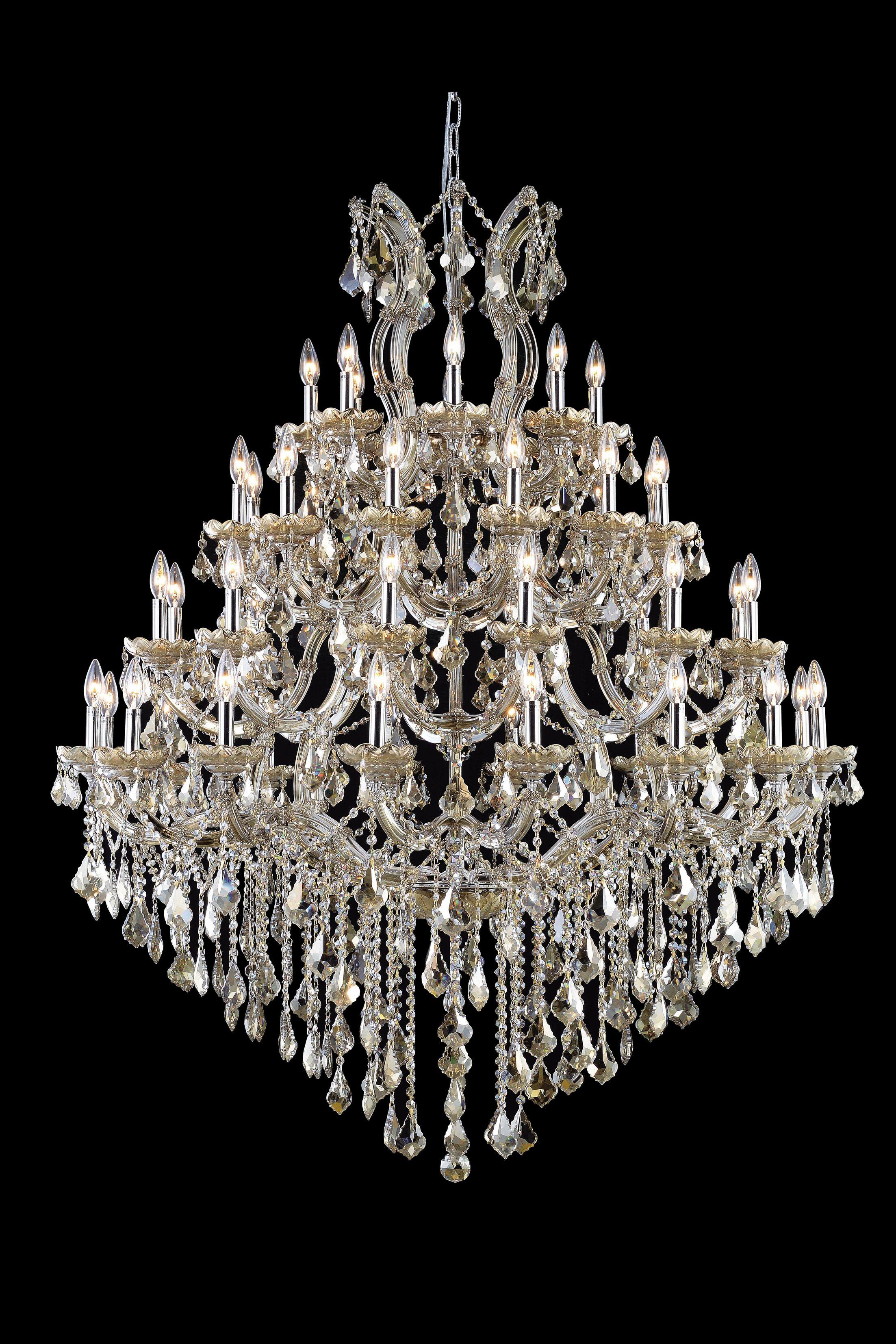 Regina 49-Light Swarovski Elements Candle Style Chandelier Size: 60