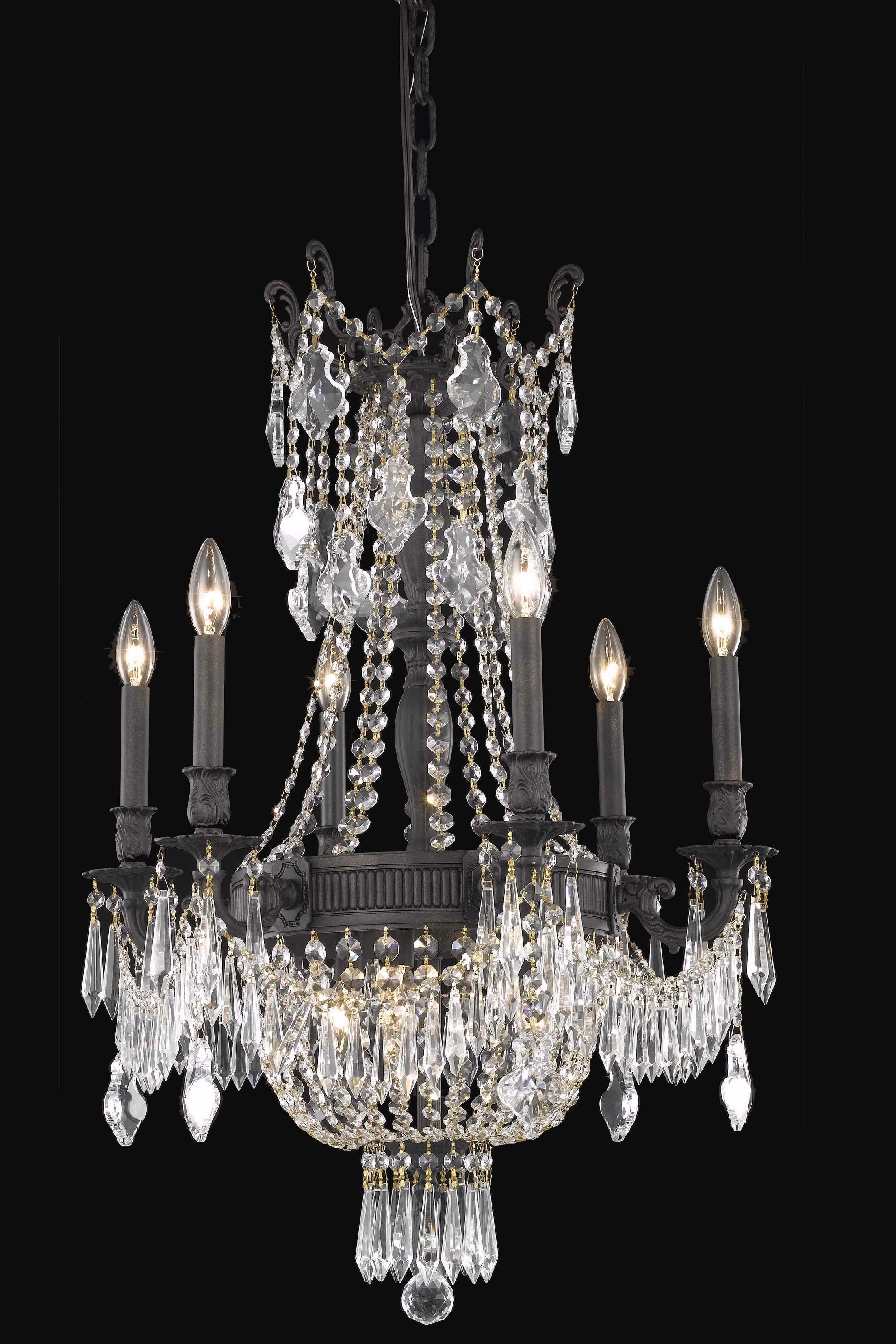 Ursula Traditional 9-Light Empire Chandelier Crystal Grade: Spectra Swarovski