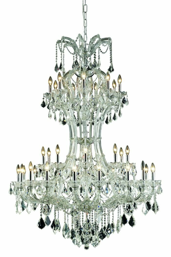 Regina Traditional 36-Light Candle Style Chandelier Finish: Chrome, Crystal Grade: Elegant Cut