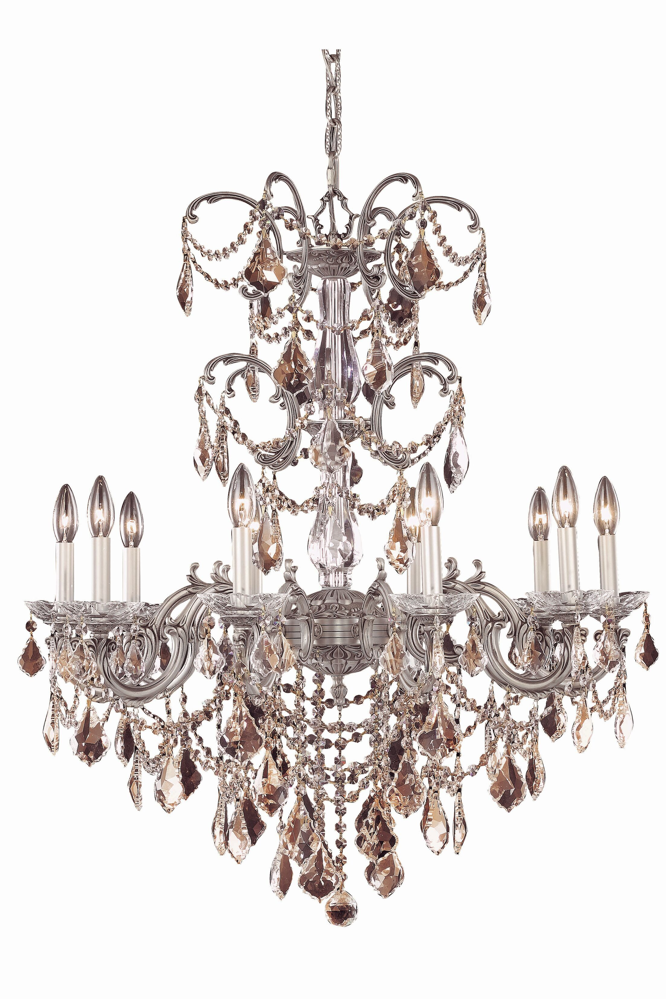 Cherie 10-Light Metal Candle Style Chandelier