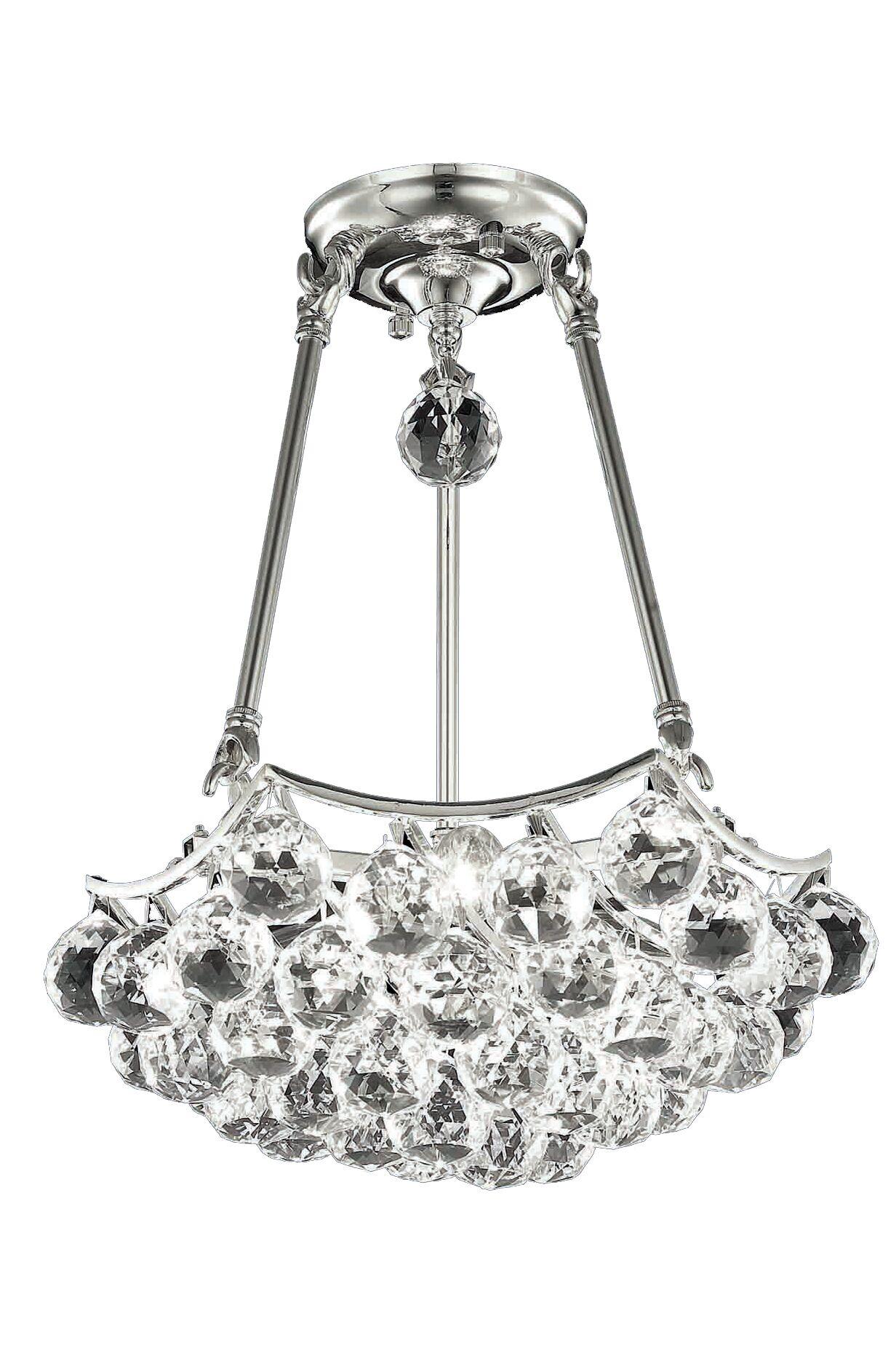 Kasha 3-Light Crystal Chandelier Size: 16