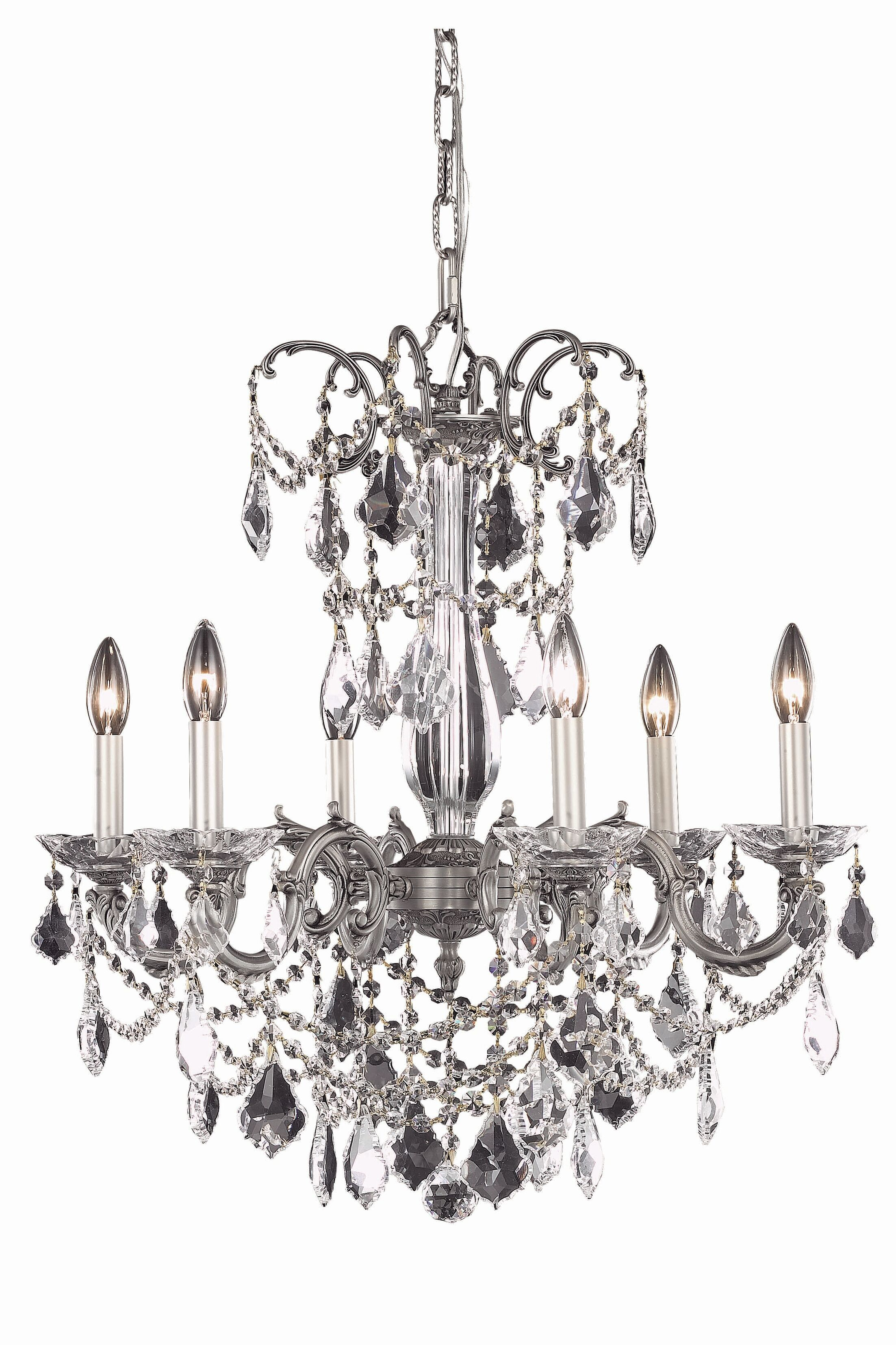 Cherie 6-Light Candle Style Chandelier Crystal Grade: Royal Cut, Finish: French Gold