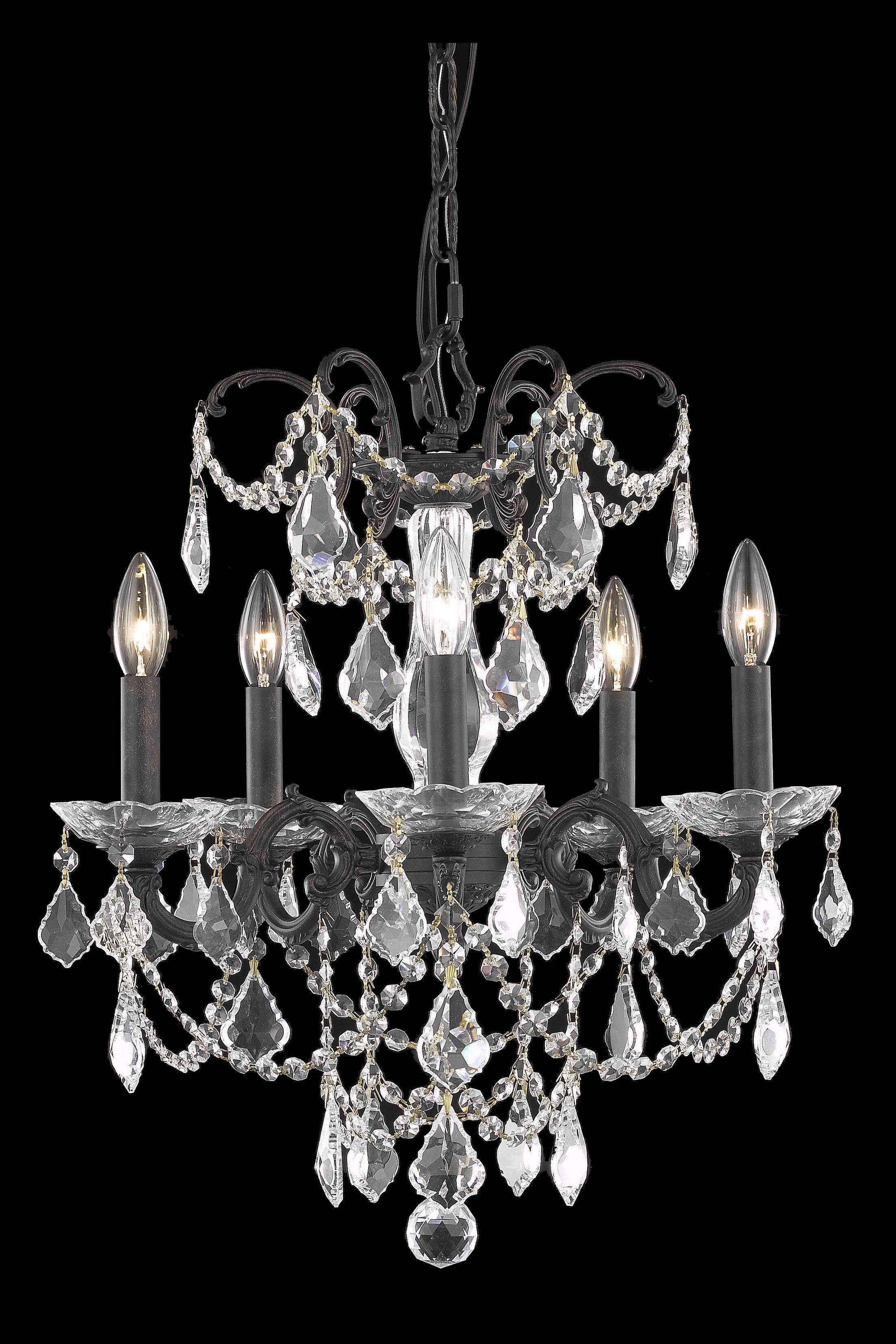 Cherie 5-Light Chandelier Crystal Grade: Elegant Cut, Finish: French Gold