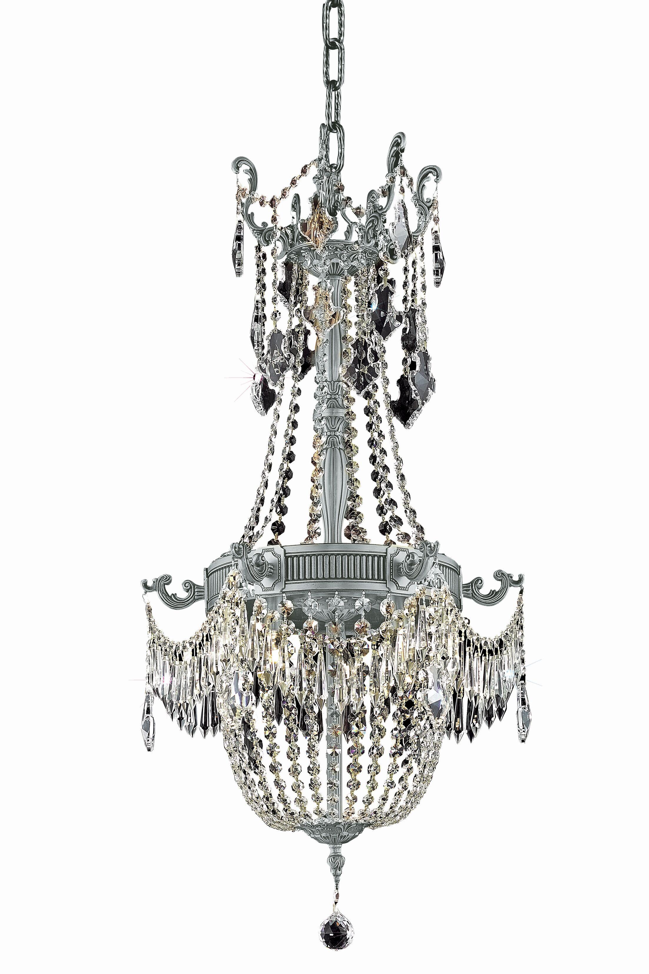 Ursula Traditional 6-Light Empire Chandelier Color: Dark Bronze, Crystal Grade: Swarovski Element