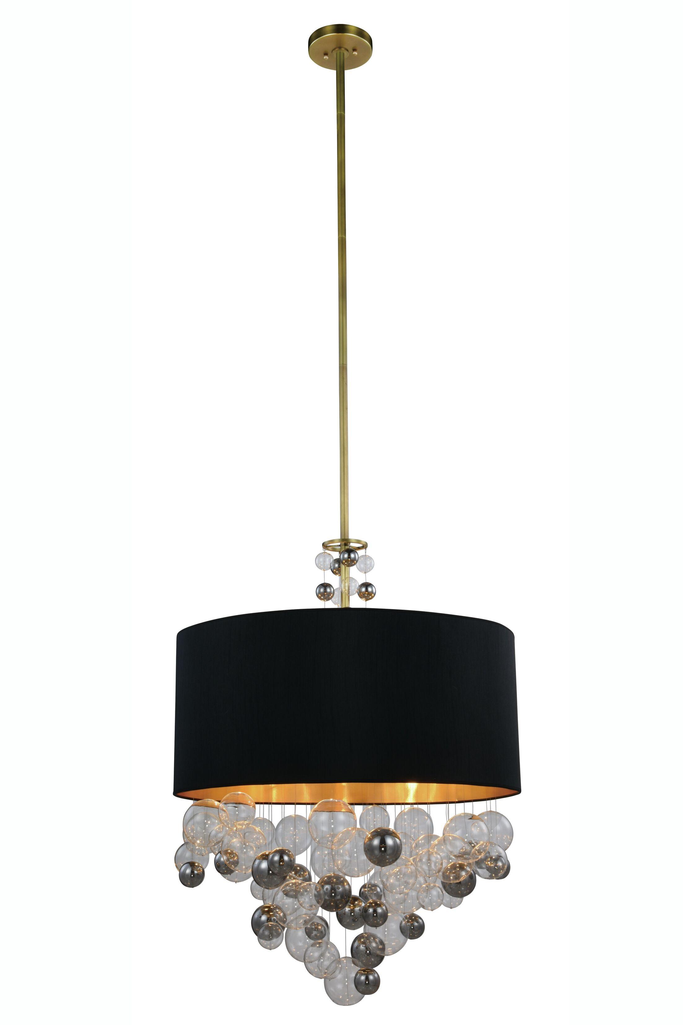 Castor 3-Light Pendant Finish: Vintage Nickel