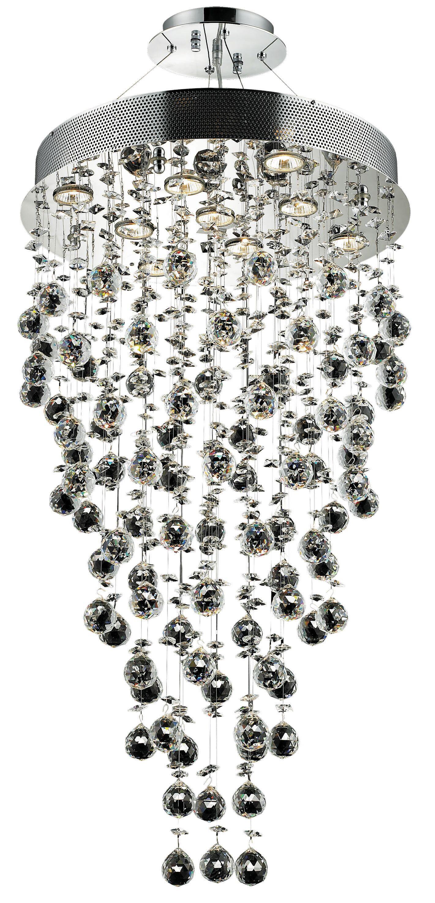 Deidamia 9-Light Chandelier Crystal Trim: Royal Cut