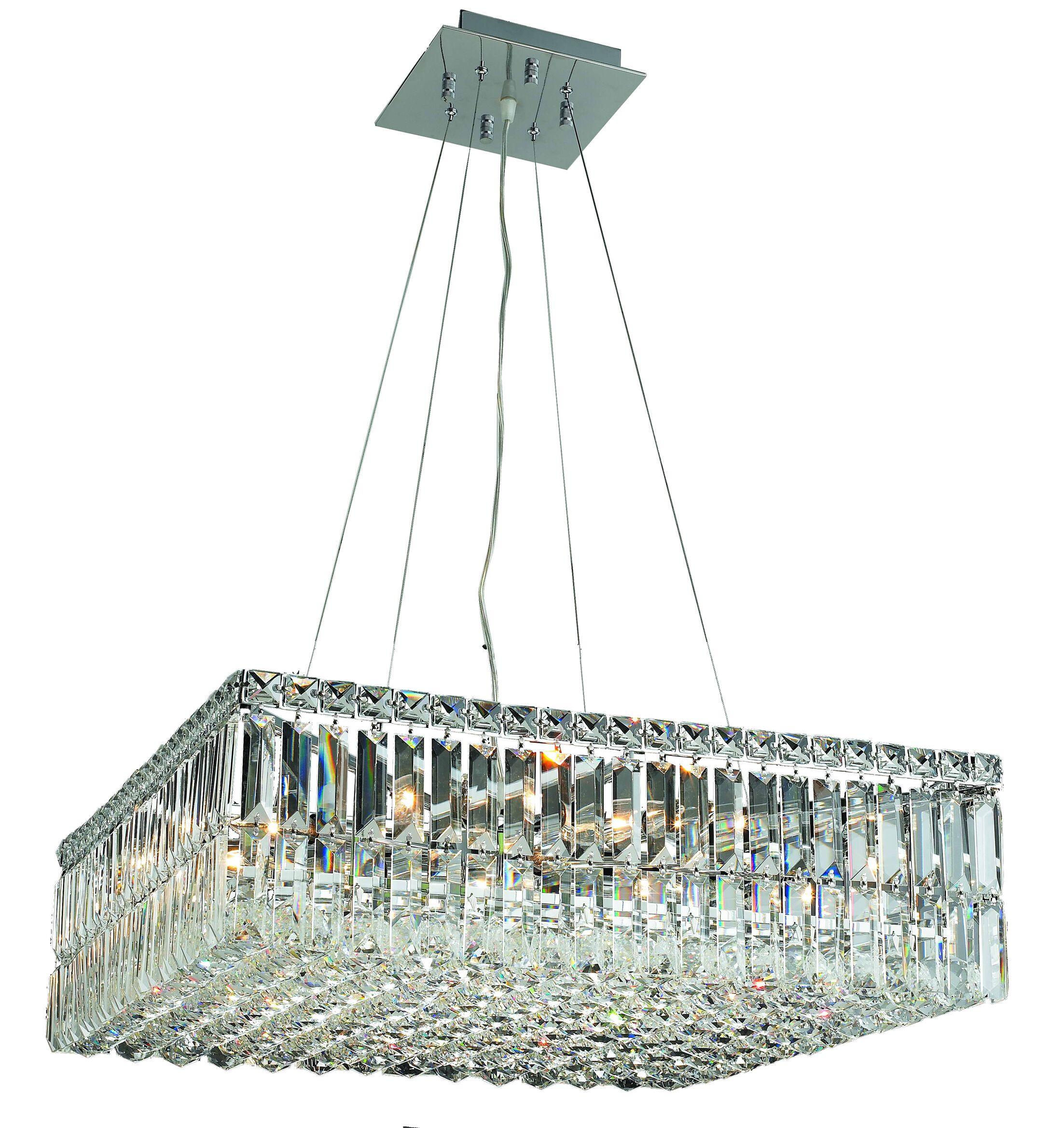 Langer 12-Light Square Chandelier Size: 7.5