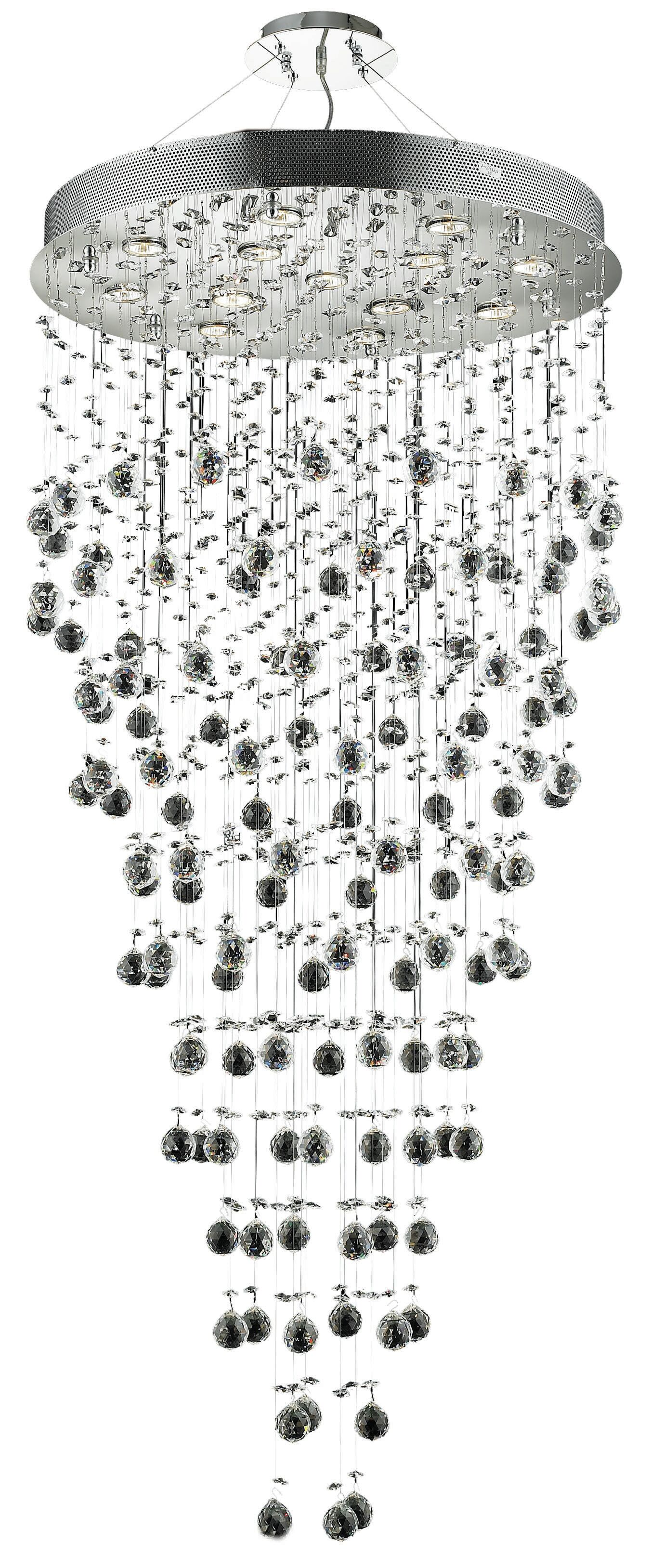 Deidamia 13-Light Crystal Chandelier