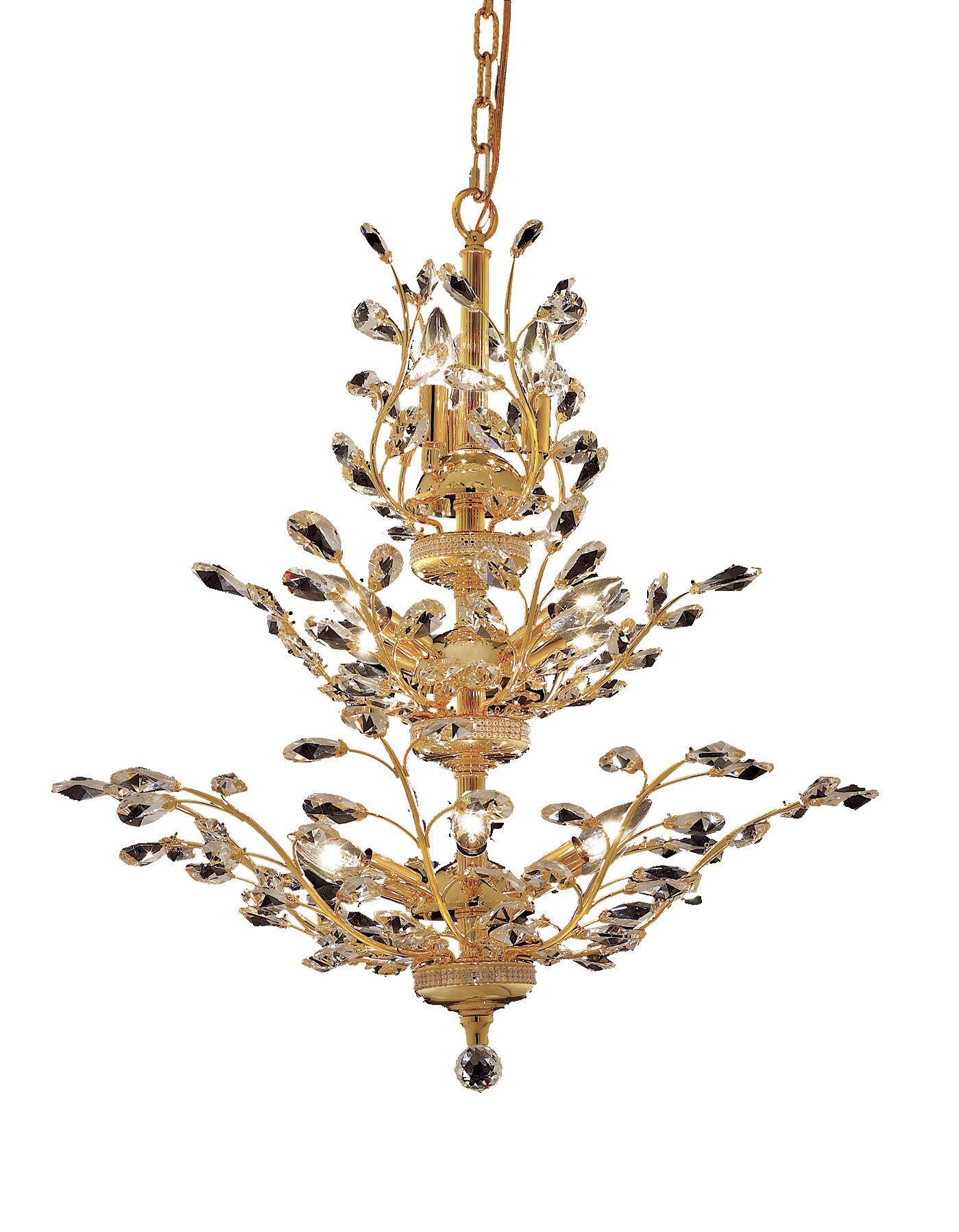 Lamons 13-Light Candle Style Chandelier Finish: Gold, Crystal Grade: Swarovski Strass