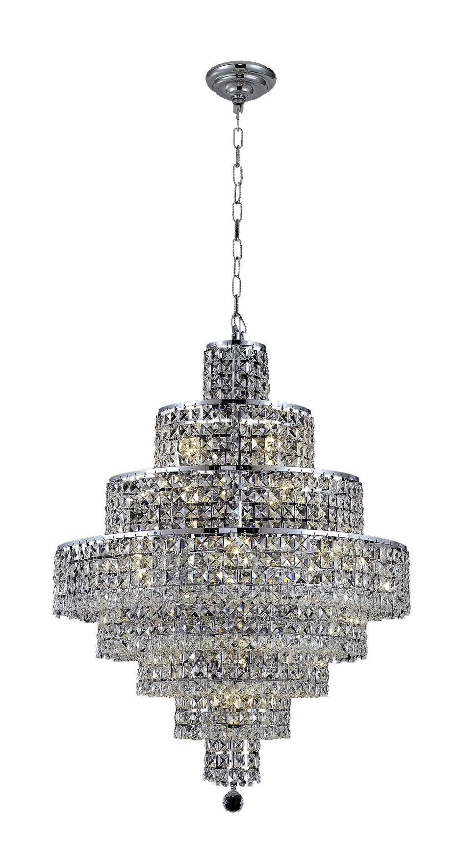 Bratton Contemporary 18-Light Chandelier Crystal Color / Crystal Trim: Golden Teak (Smoky) / Royal Cut