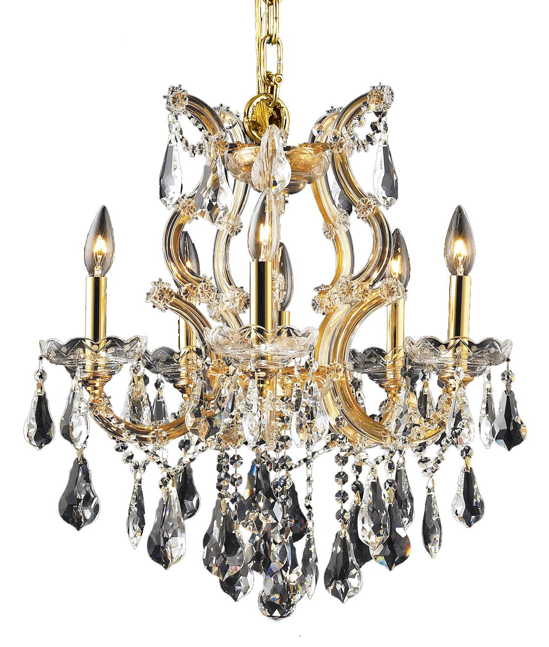 Regina Traditional 6-Light Candle Style Chandelier Finish / Crystal Finish / Crystal Trim: Chrome / Crystal (Clear) / Royal Cut