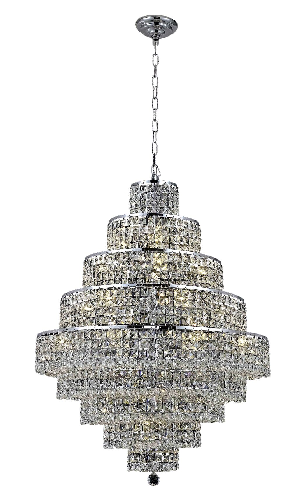 Bratton Contemporary 20-Light Chandelier Crystal Color / Crystal Trim: Golden Teak (Smoky) / Strass Swarovski