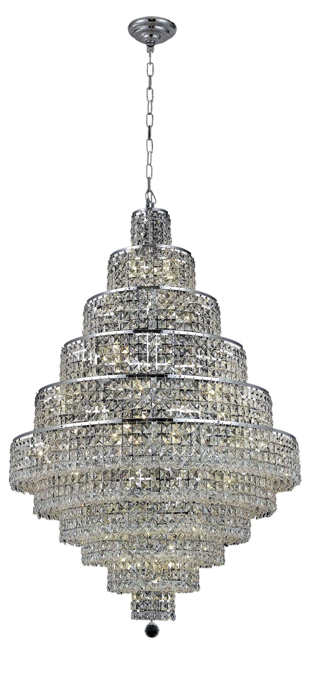 Bratton Contemporary 30-Light Chandelier Crystal Color / Crystal Trim: Silver Shade (Grey) / Strass Swarovski