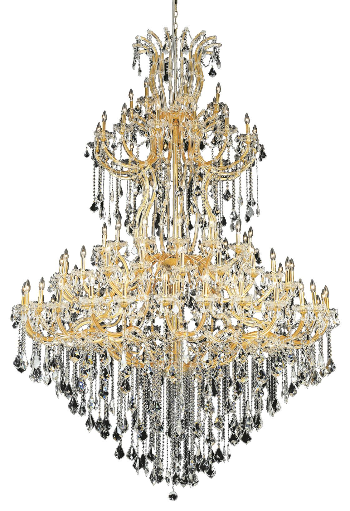 Regina Traditional 85-Light Candle Style Chandelier Finish / Crystal Finish / Crystal Trim: Chrome / Crystal (Clear) / Royal Cut