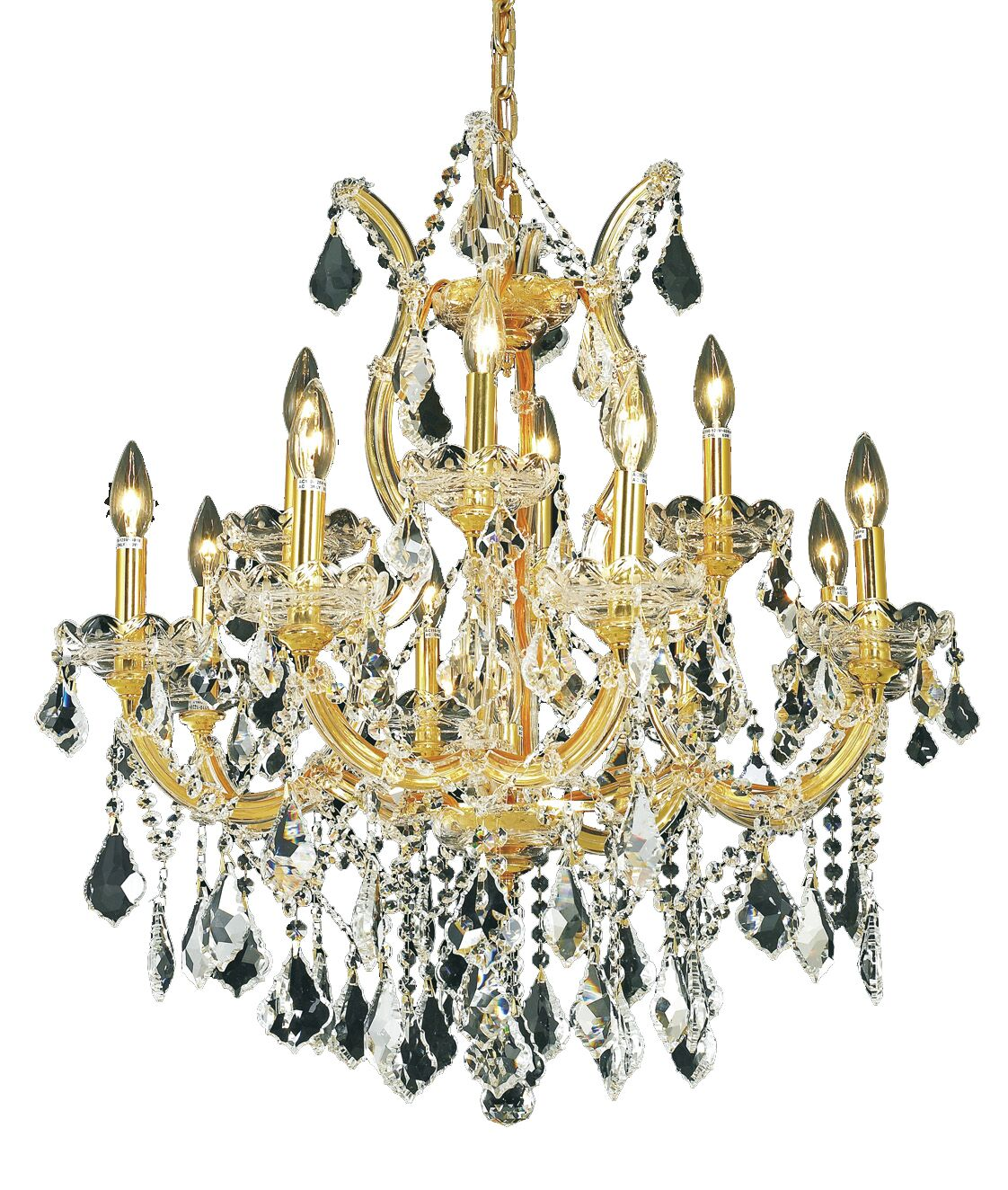 Regina Traditional 13-Light Candle Style Chandelier Finish / Crystal Finish / Crystal Trim: Chrome / Crystal (Clear) / Elegant Cut