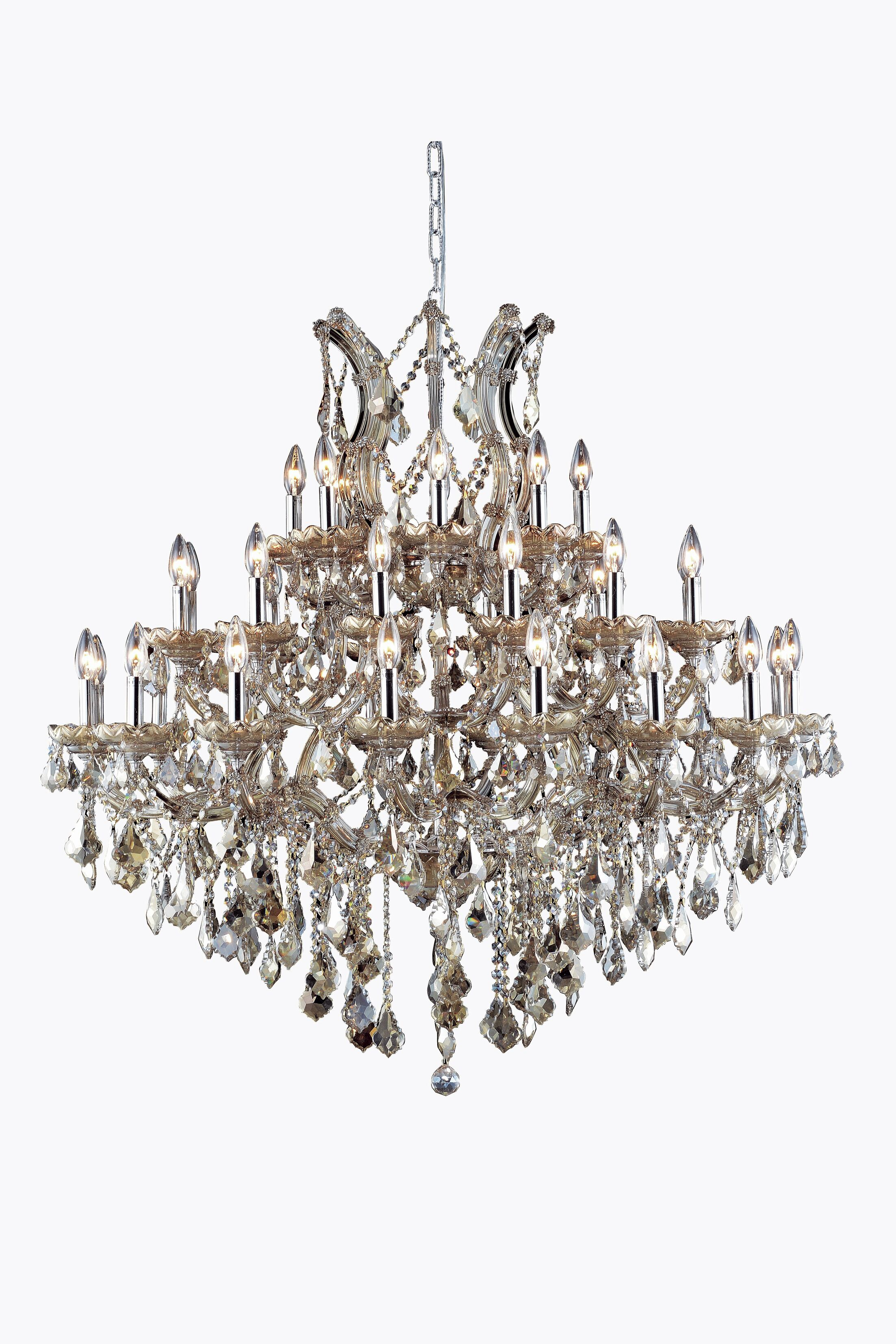 Regina 37-Light Royal Cut Candle Style Chandelier