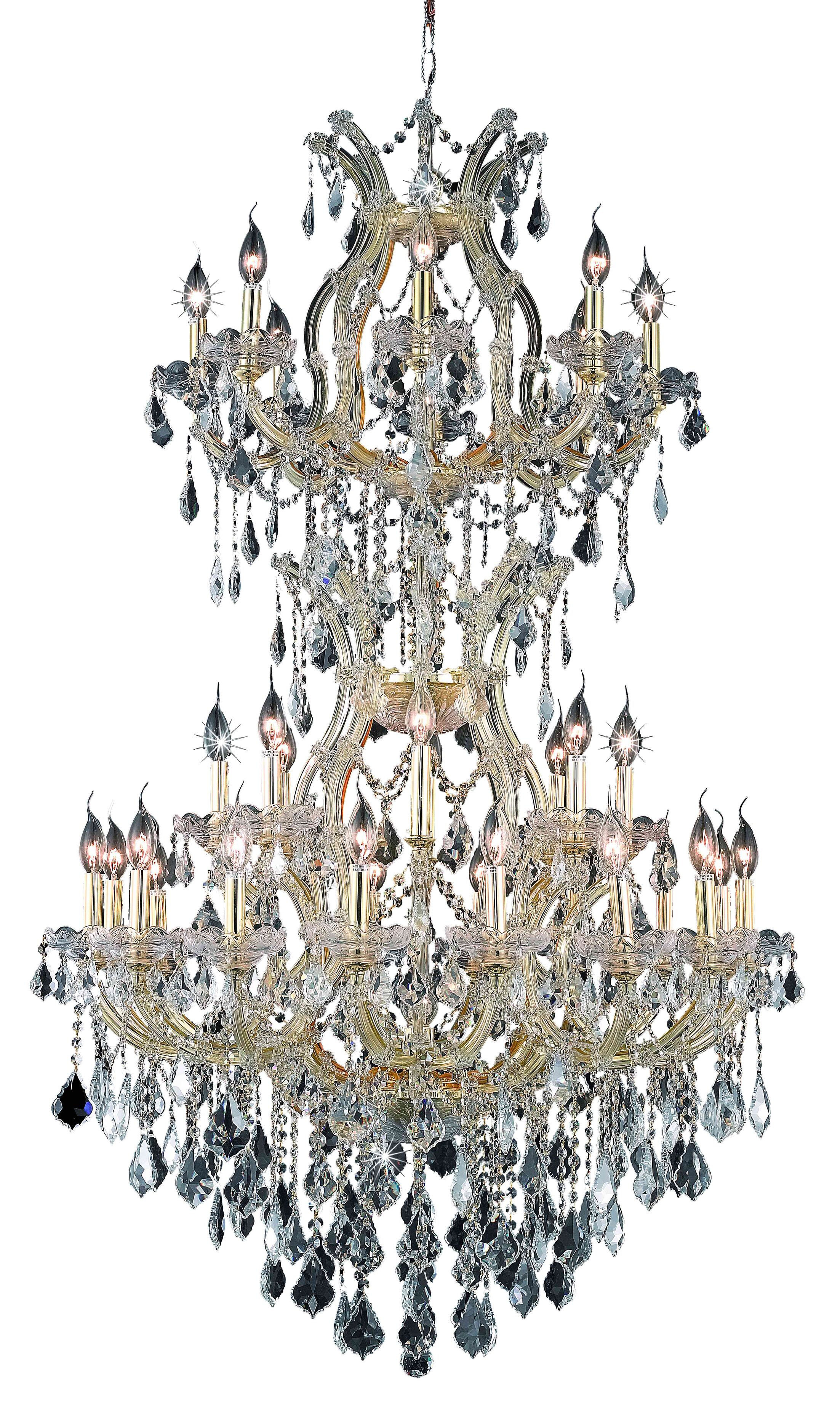 Regina Traditional 34-Light Candle Style Chandelier Finish / Crystal Finish / Crystal Trim: Chrome / Crystal (Clear) / Royal Cut