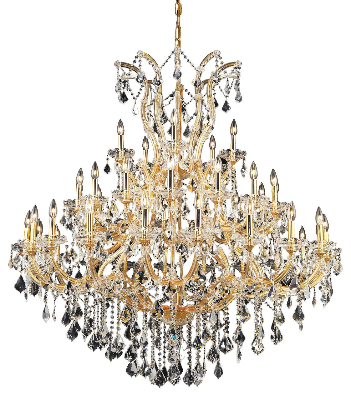 Regina Traditional 41-Light Candle Style Chandelier Finish / Crystal Finish / Crystal Trim: Chrome / Crystal (Clear) / Royal Cut