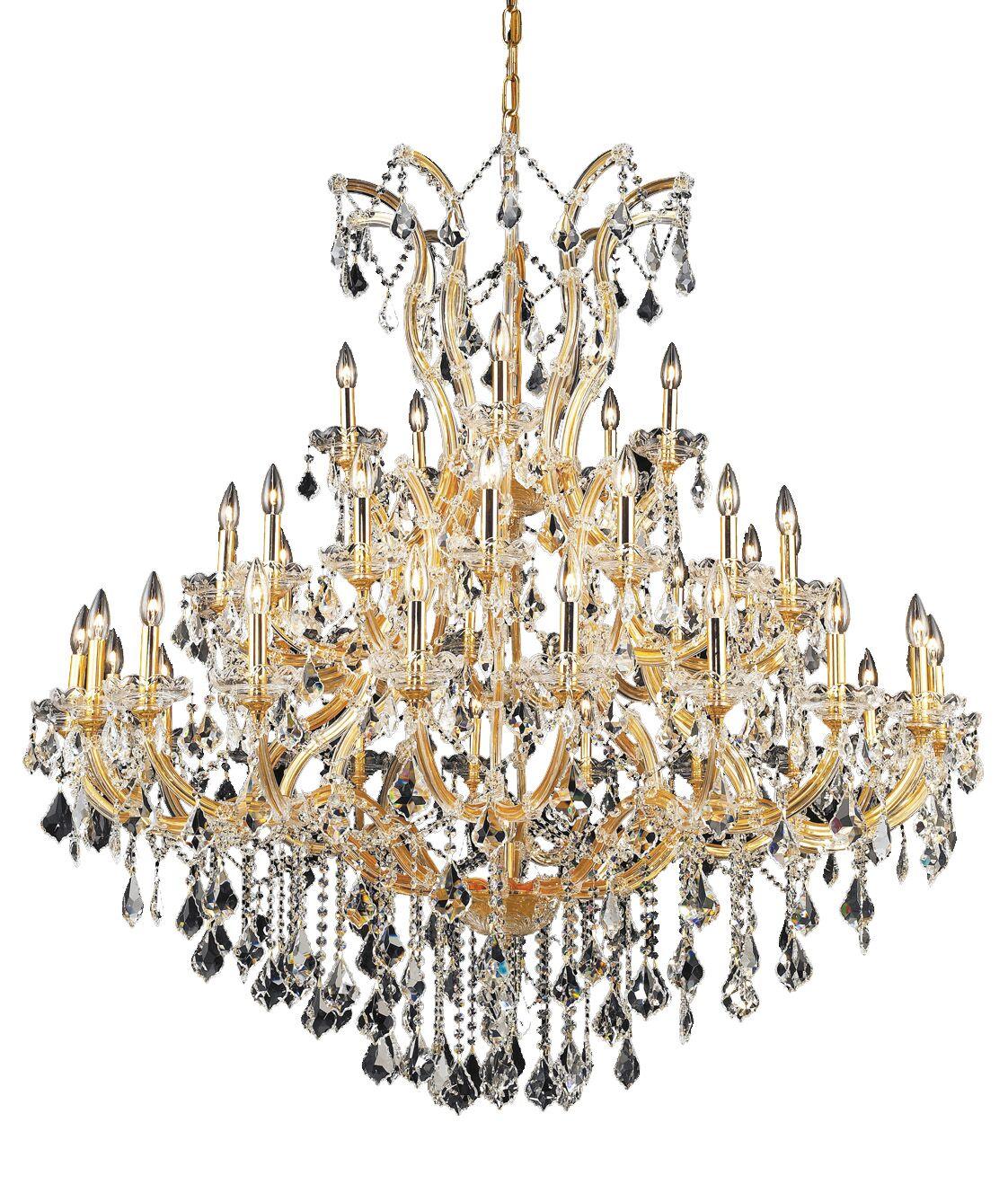 Regina Traditional 41-Light Candle Style Chandelier Finish / Crystal Finish / Crystal Trim: Chrome / Crystal (Clear) / Spectra Swarovski