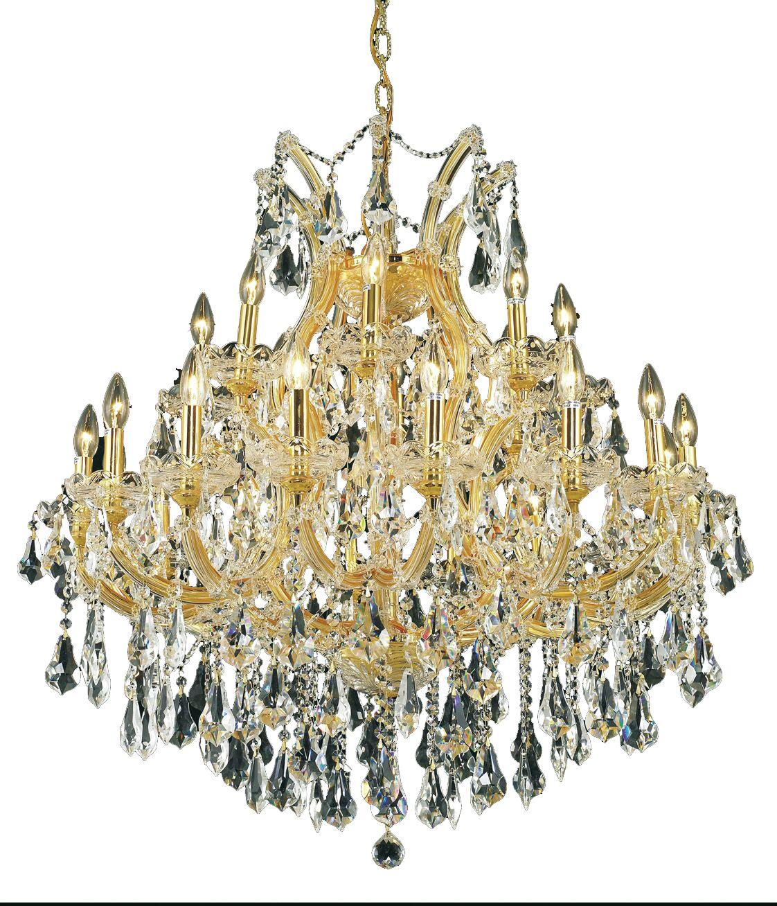Regina Traditional 24-Light Royal Cut Chain Candle Style Chandelier Finish / Crystal Finish / Crystal Trim: Chrome / Crystal (Clear) / Royal Cut