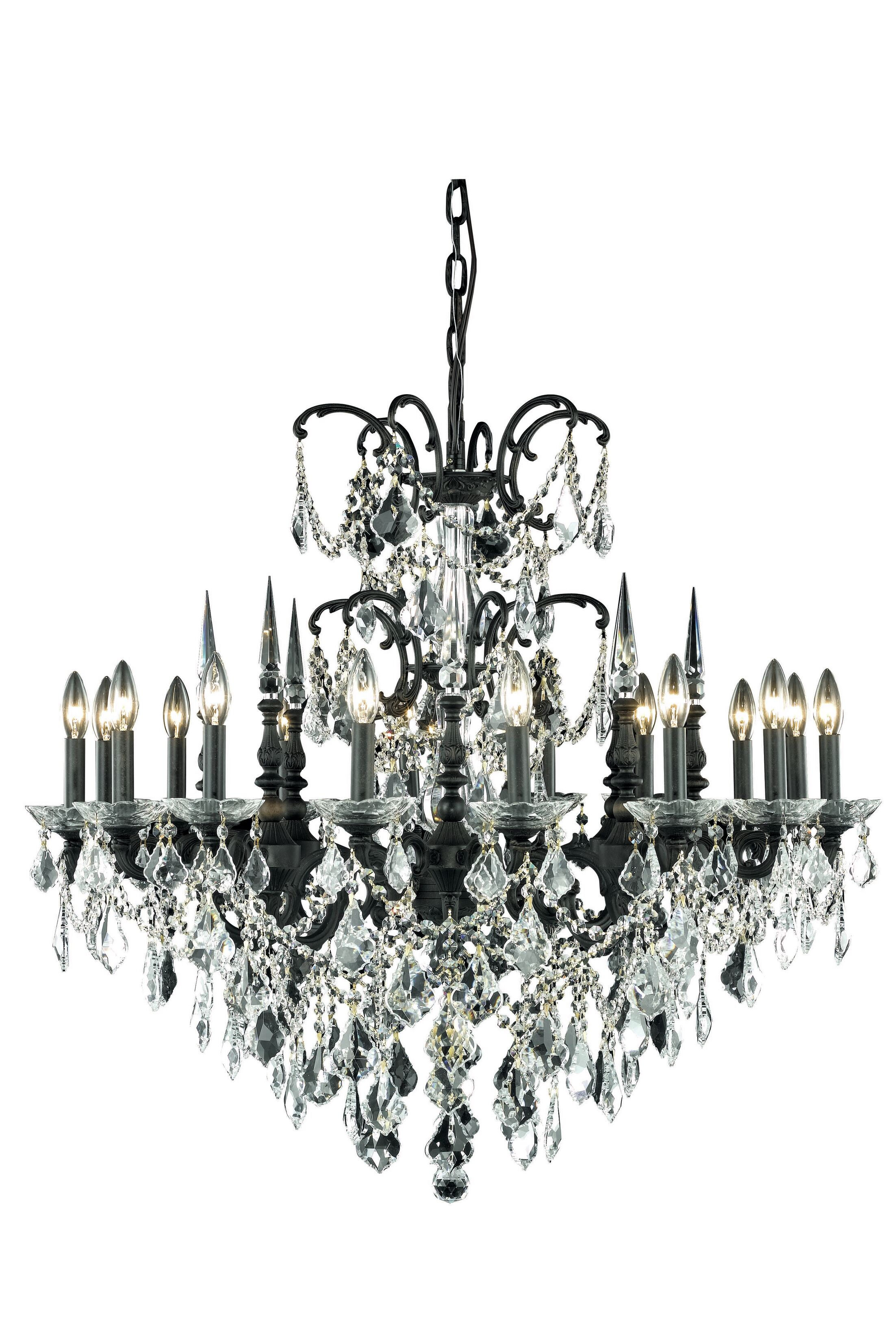 Cherie 16-Light Traditional Candle Style Chandelier Crystal Color / Crystal Trim: Crystal (Clear) / Strass Swarovski