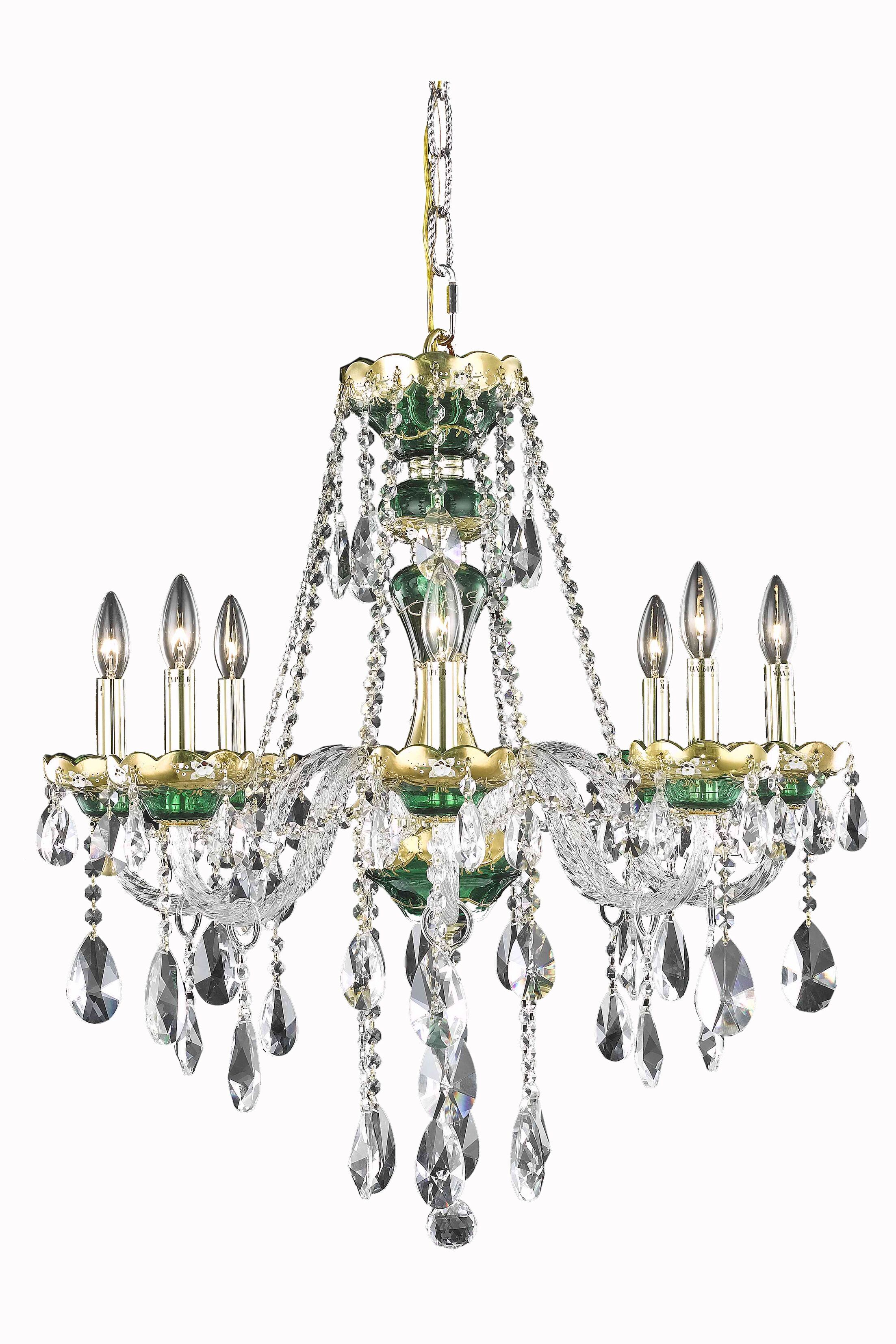 Schroeppel Traditional 8-Light Candle Style Chandelier Color: Blue, Crystal Trim: Spectra Swarovski
