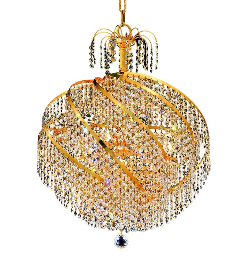 Landgraf 10-Light Crystal Chandelier Finish: Gold, Crystal Grade: Swarovski Strass