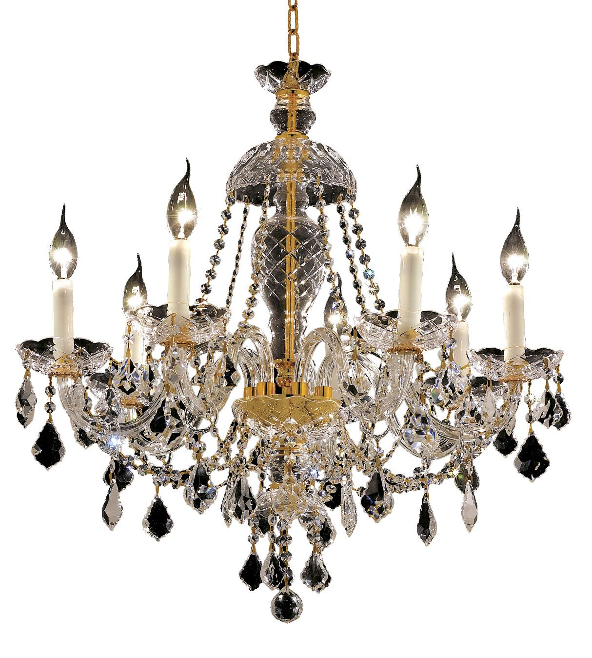 Schroeppel 7-Light Candle Style Chandelier Color: Gold, Crystal Trim: Elegant Cut