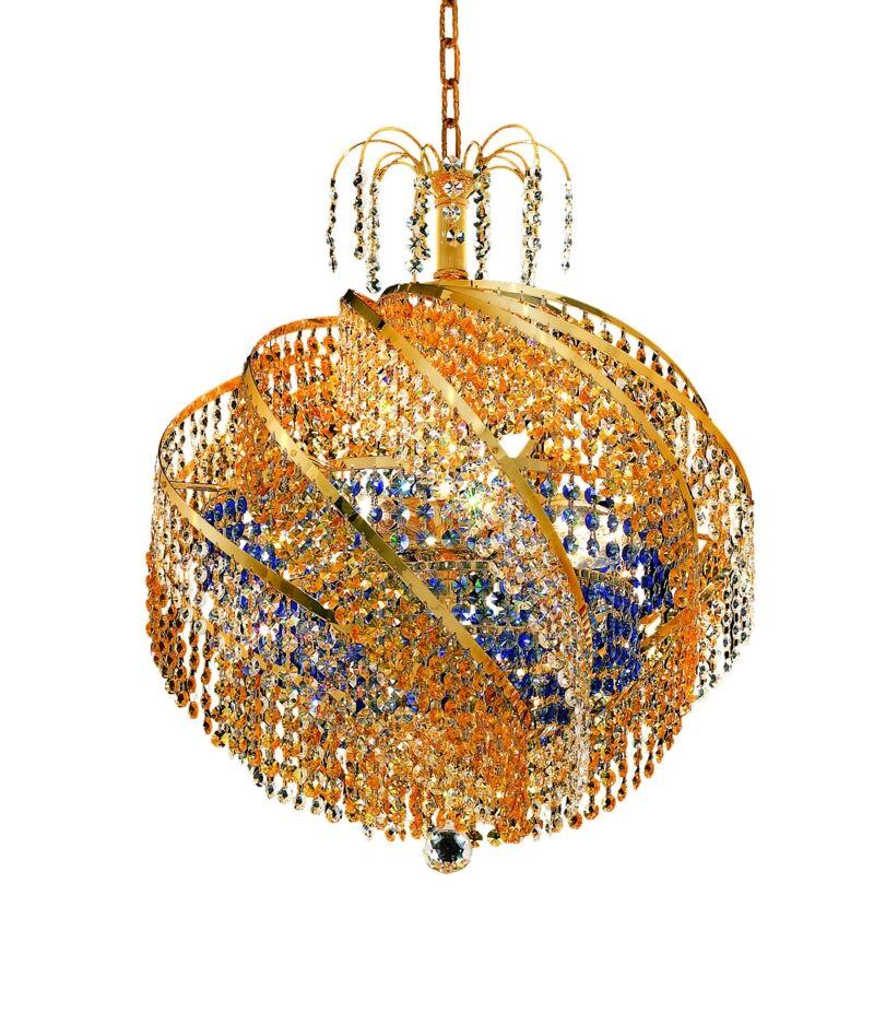 Mathilde Contemporary 10-Light Chandelier Finish: Chrome, Crystal Trim: Strass Swarovski